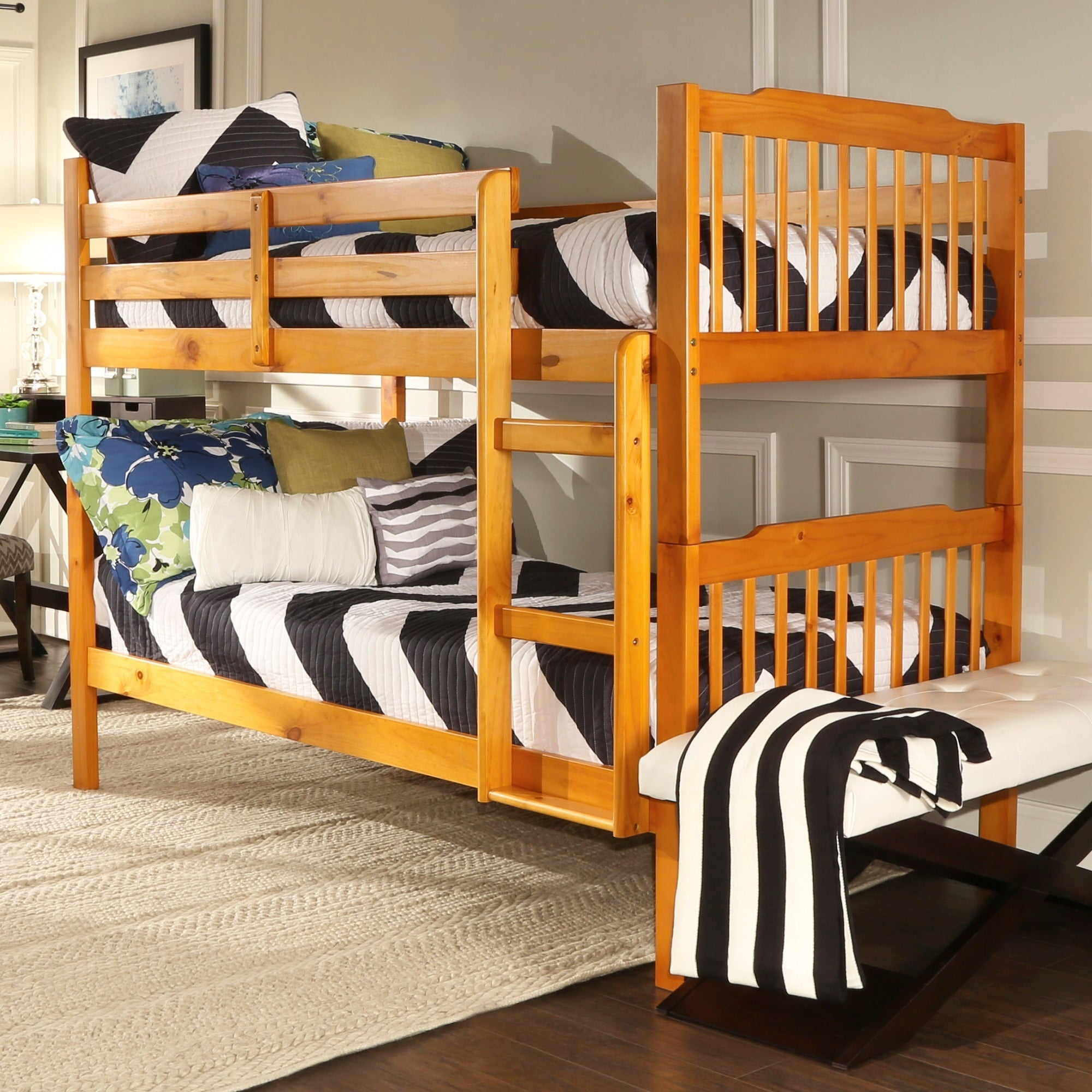 Shop Simone Twin And Twin Bunk Beds By INSPIRE Q Junior   Free Shipping  Today   Overstock.com   4877630