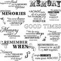 Fiskars Good Times 8x8-inch Quote Clear Stamp Sheet