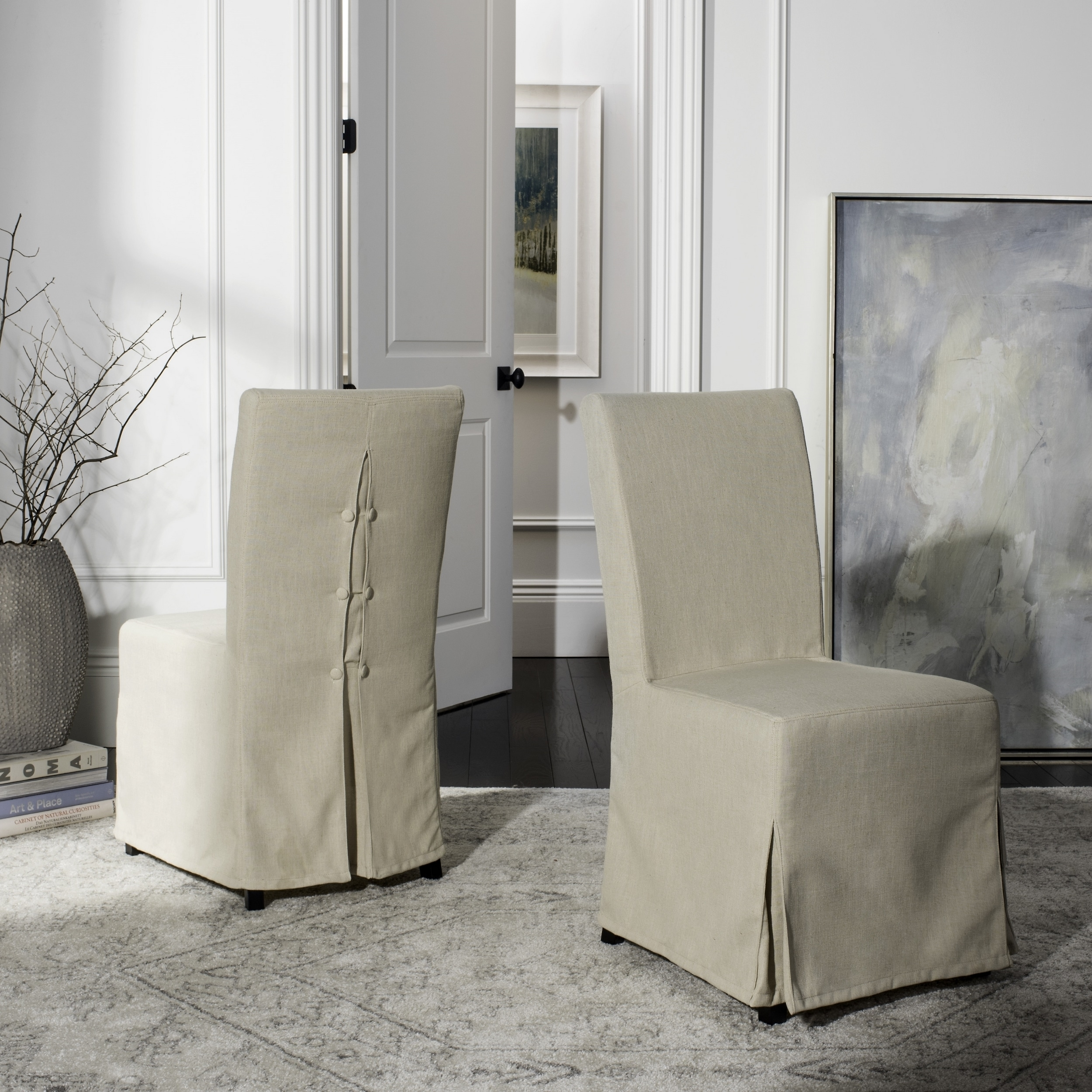 Safavieh Parsons Dining Slipcover Chairs Set Of 2 33 X 19 40 Free Shipping Today 5016637