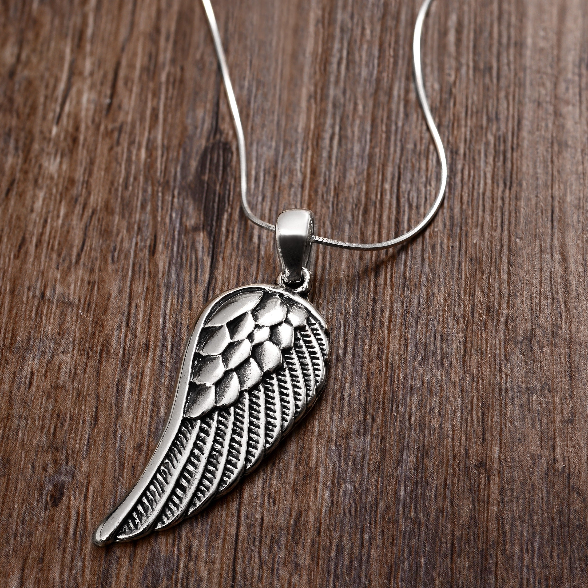 studio wing in king pendant jewelry women s baby metallic silver necklace lyst double