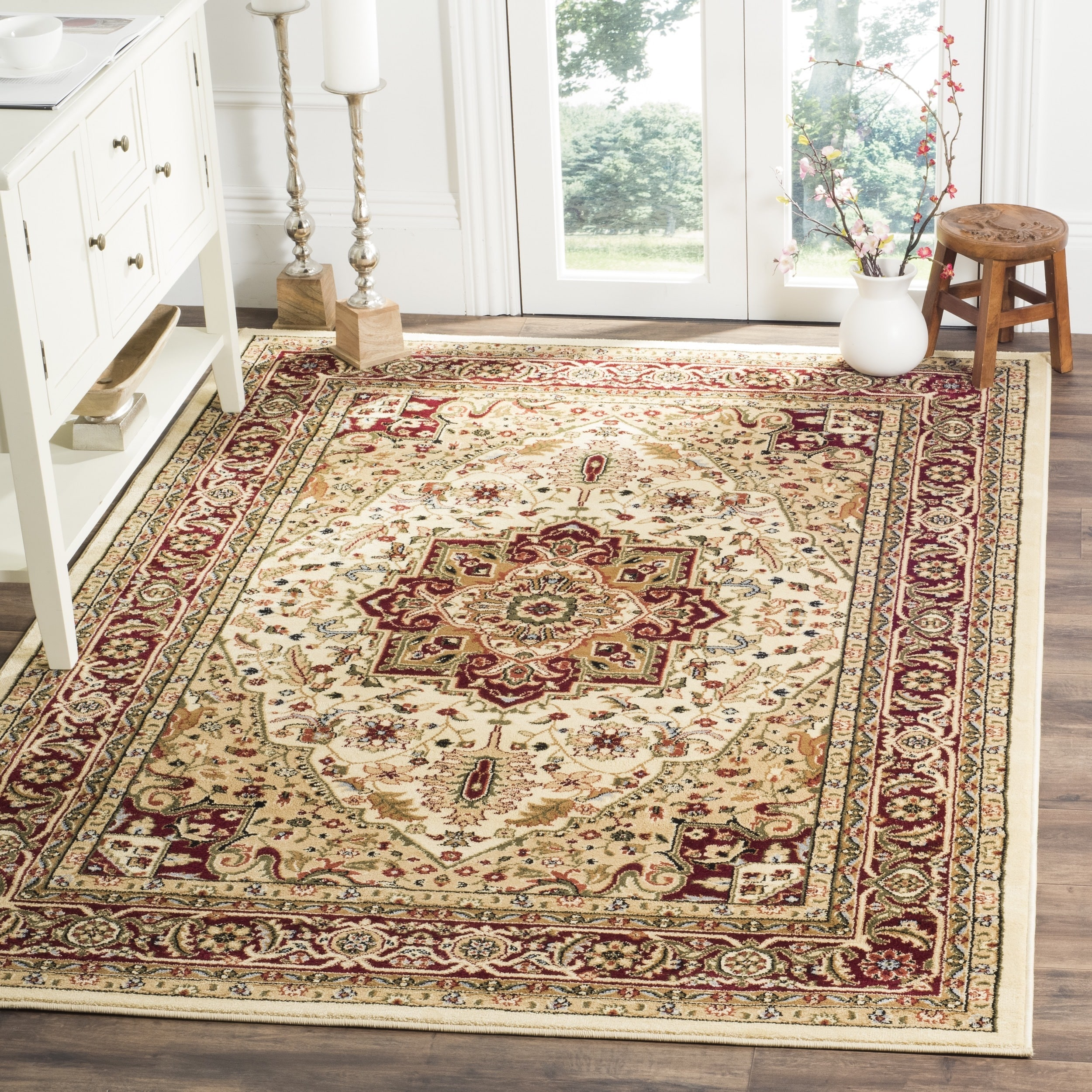 Safavieh Lyndhurst Traditional Oriental Ivory/ Red Area Rug (4' x 6') -  Free Shipping Today - Overstock.com - 12913240