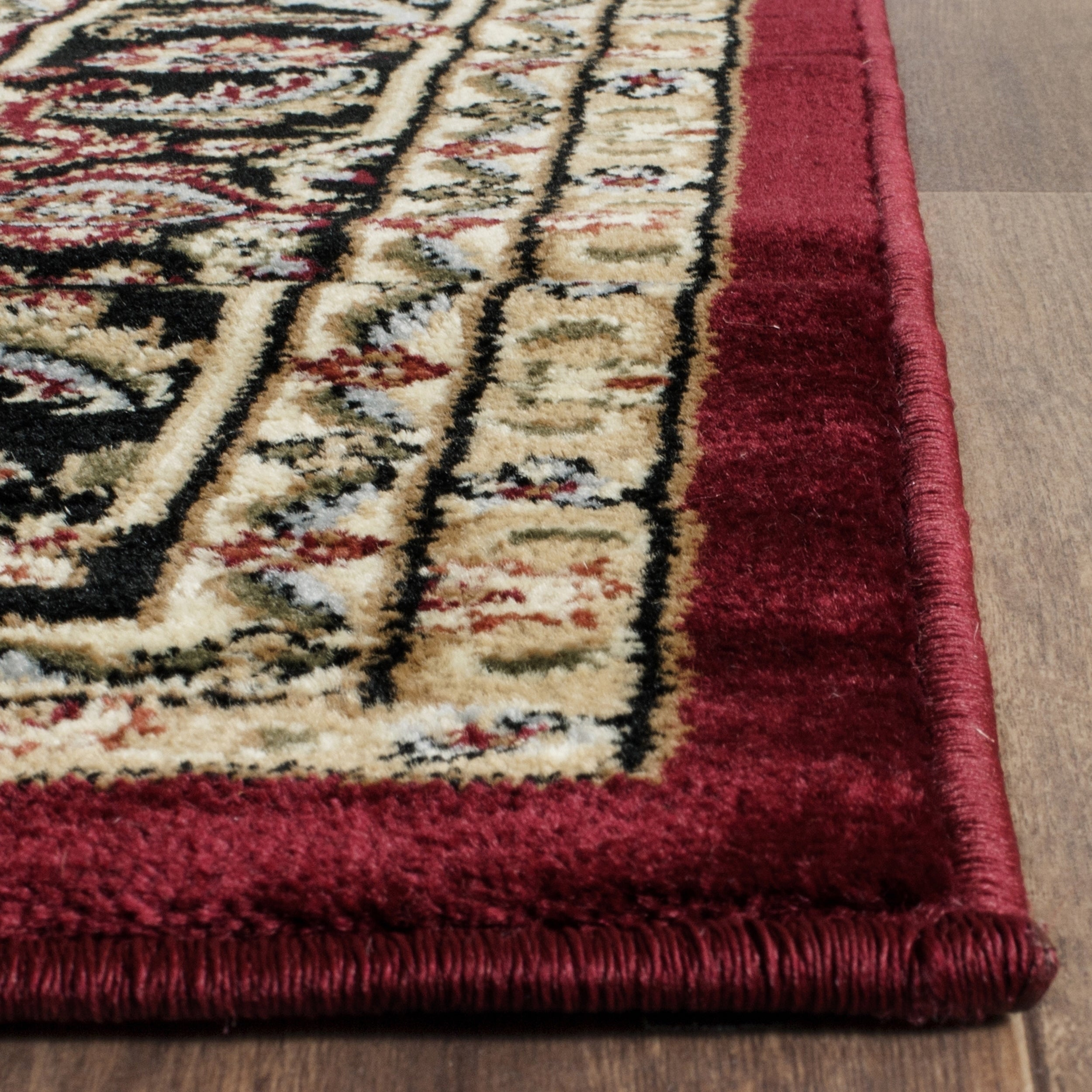 Safavieh Lyndhurst Traditional Oriental Red/ Black Area Rug (6u0027 X 6u0027  Square)   Free Shipping Today   Overstock.com   12913245