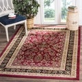 Safavieh Lyndhurst Traditional Oriental Red/ Black Rug (6' x 6' Square)