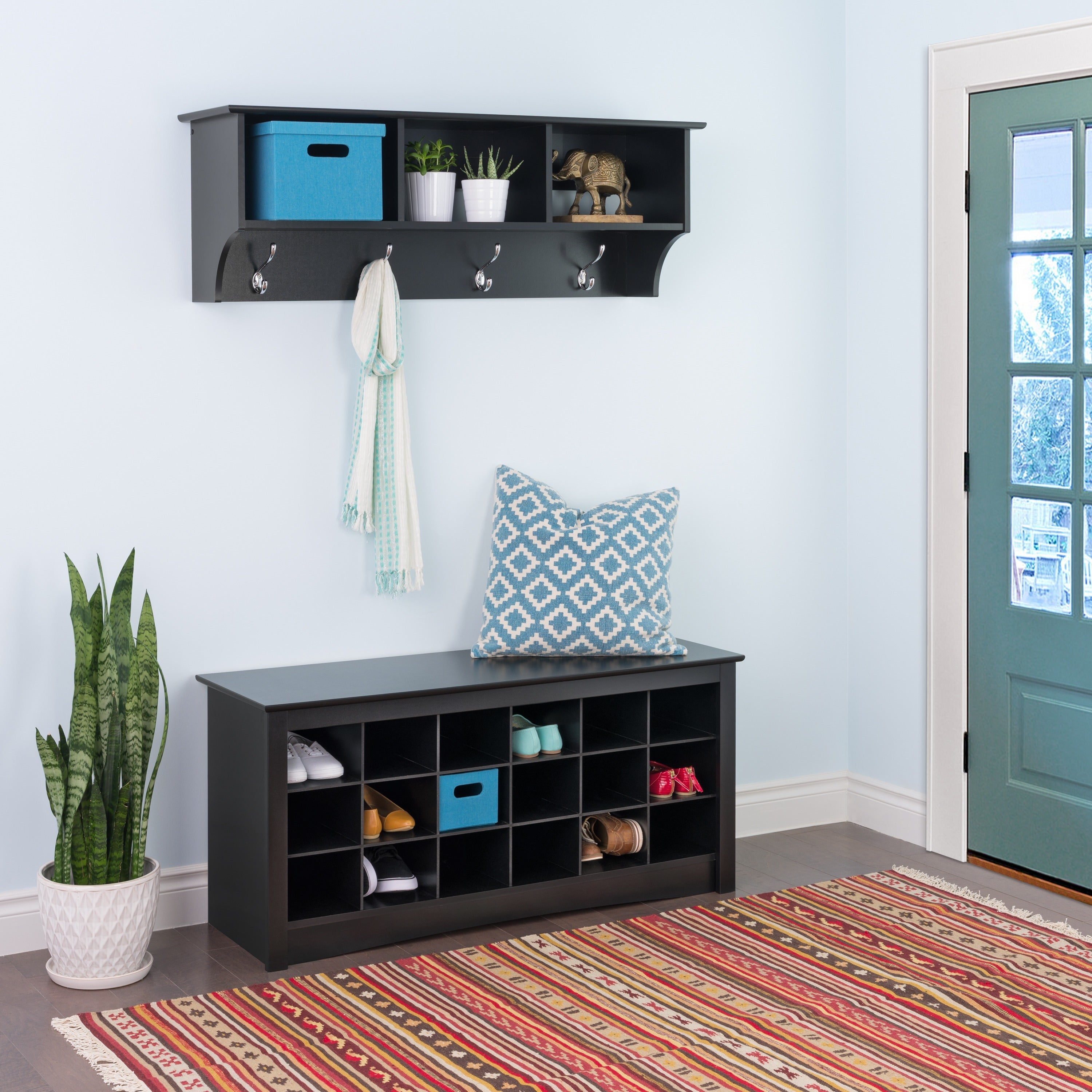 Shop The Gray Barn Waggoner Black Shoe Storage Cubbie Bench   Free Shipping  Today   Overstock.com   20306387