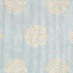 Safavieh Handmade Soho Medallion Light Blue N Z Wool Rug 8 Square Free Shipping Today 12919974