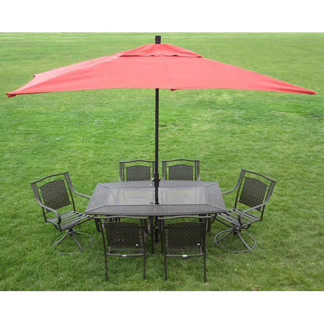Incroyable Shop Premium 10u0027 Rectangular Patio Umbrella   Free Shipping Today    Overstock.com   5071235