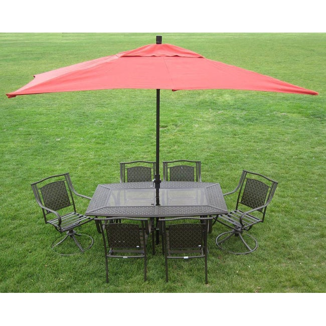 Captivating Premium 10u0027 Rectangular Patio Umbrella   Free Shipping Today   Overstock    12930968