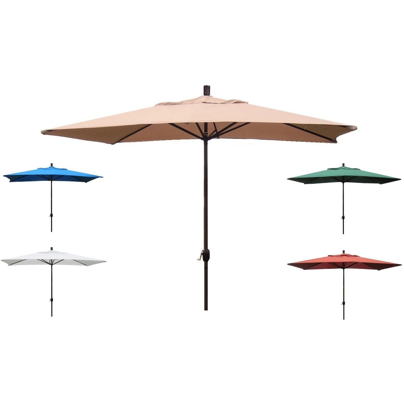 Premium 10 Rectangular Patio Umbrella Free Shipping Today