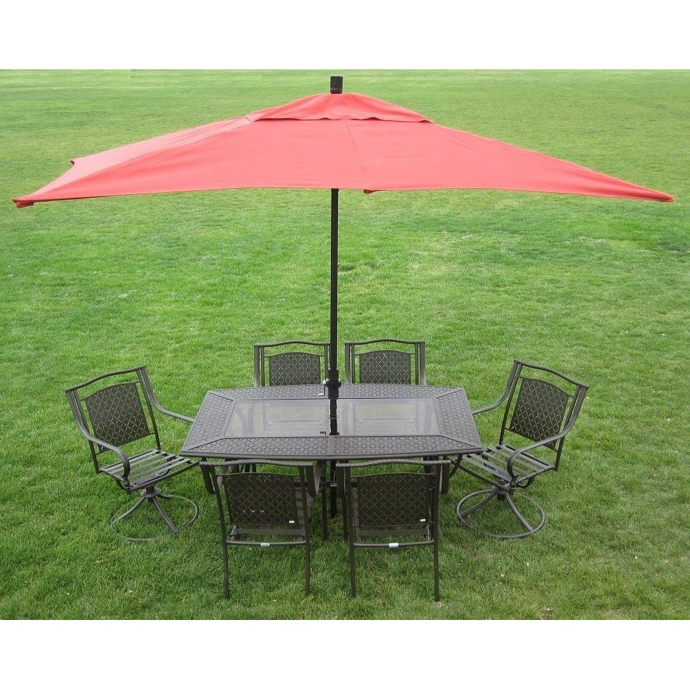 Bon Shop Premium 10 Foot Rectangular Patio Umbrella With Stand   Free Shipping  Today   Overstock.com   5071241