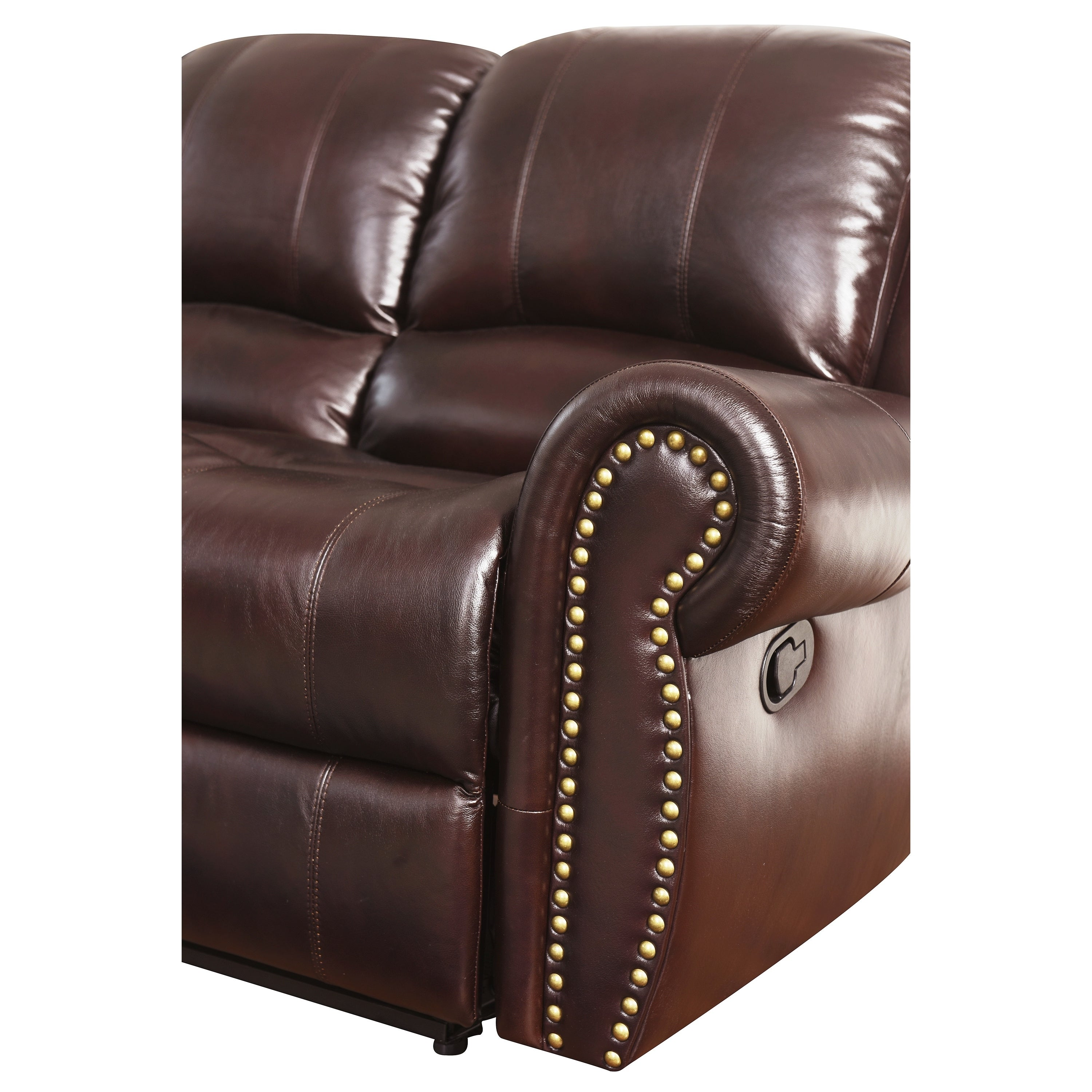Abbyson Broadway Top Grain Leather Reclining 2 Piece Living Room