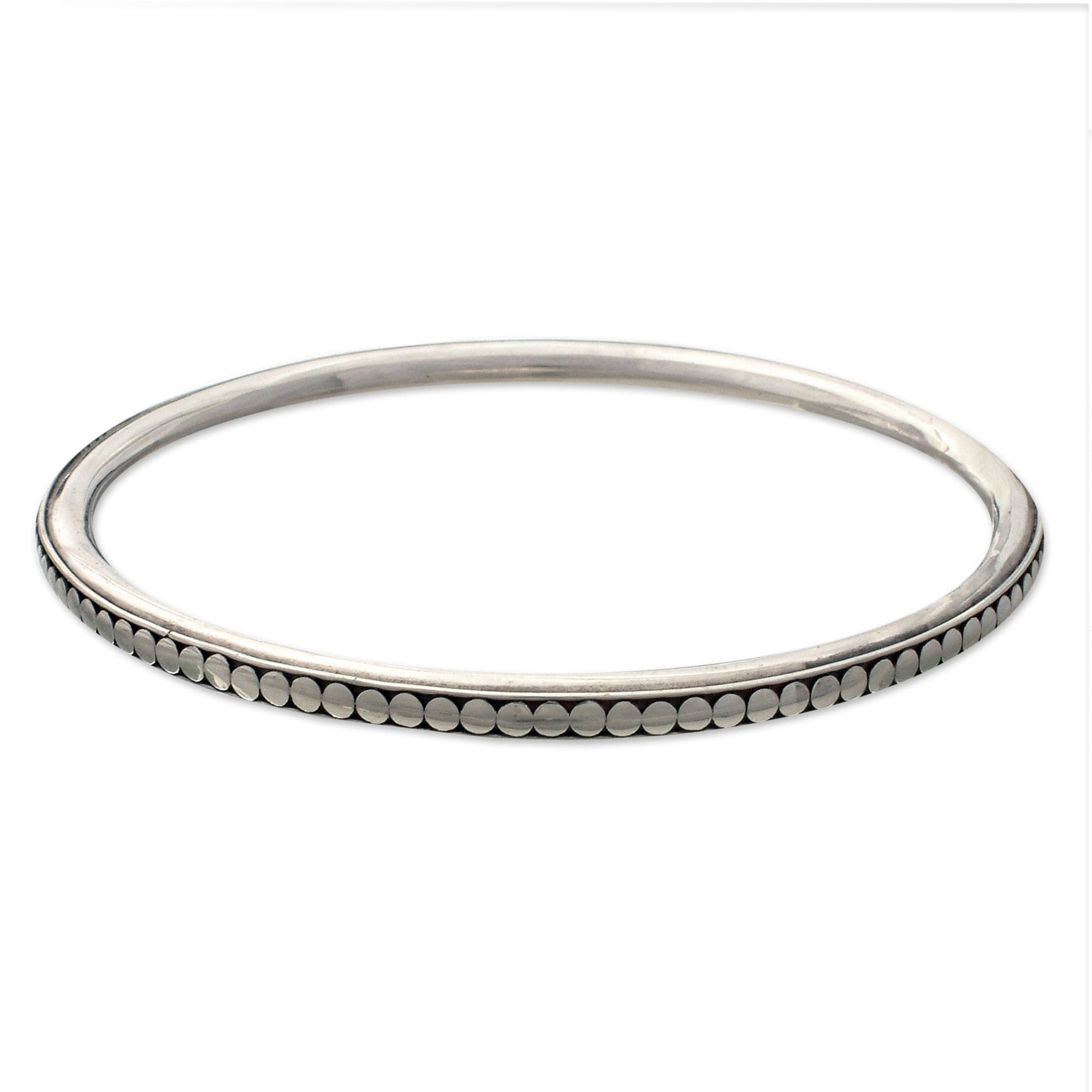 bracelet silver bangle zirconia white products bracelets with cubic small bangles