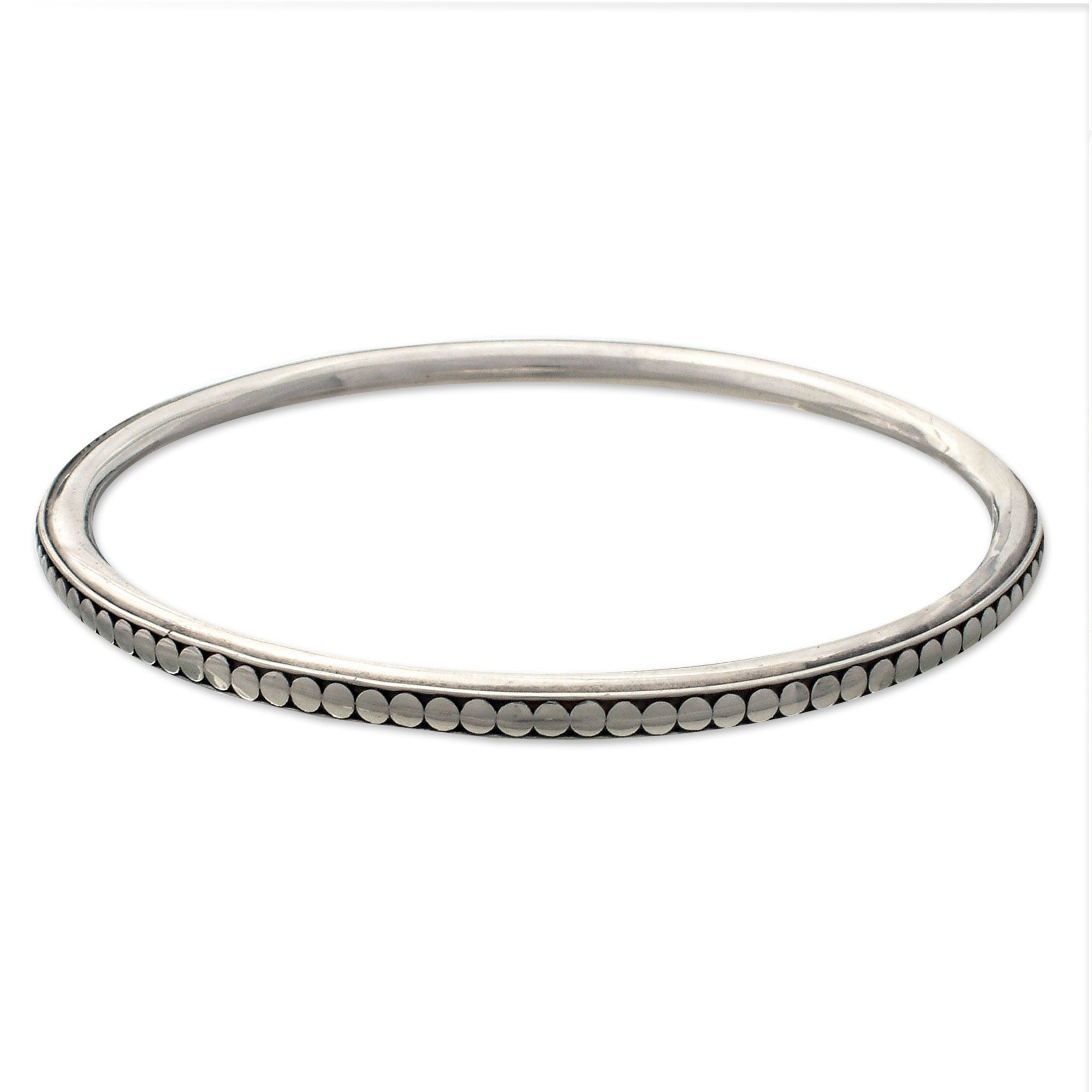 small charm silver double p seven bangles link heart inch uk with chunky sterling asp school bracelets bangle fastening lock