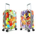 Olympia Blossom 25-inch Expandable Fashion Hardside Spinner Upright Suitcase
