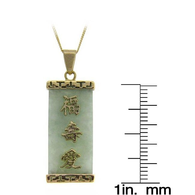 Shop Dolce Giavonna 18k Yellow Gold Over Sterling Silver Jade