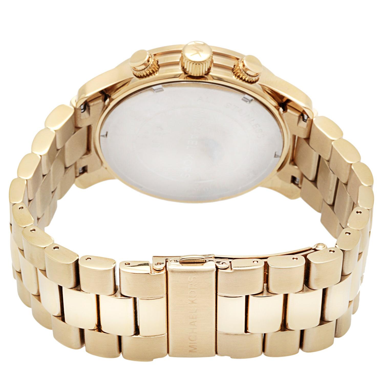 64154aec3 Shop Michael Kors Men's MK8077 Yellow Goldtone Bracelet Watch - Gold - Free  Shipping Today - Overstock - 5084191