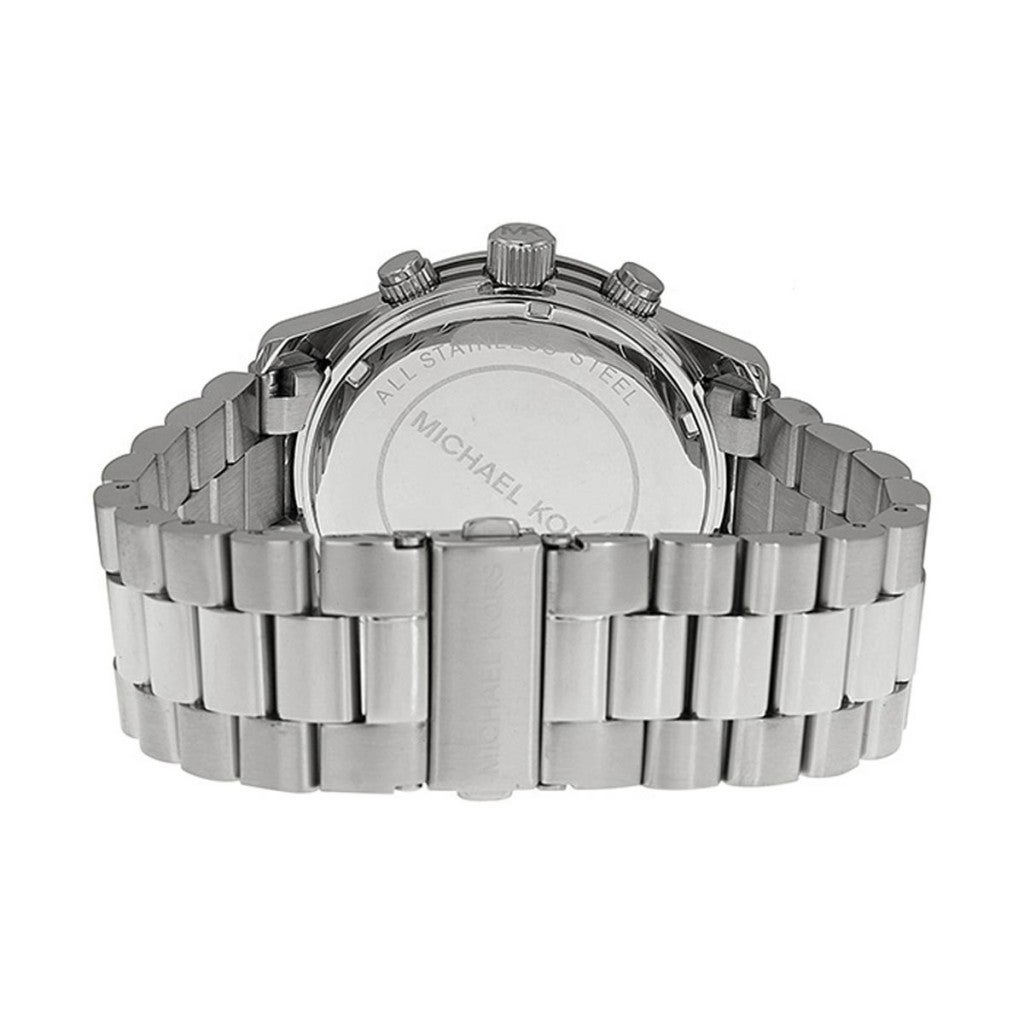 5d6b76fc8866 Shop Michael Kors Men s MK8086 Chronograph Silvertone Bracelet Watch -  Silver - Free Shipping Today - Overstock - 5084200