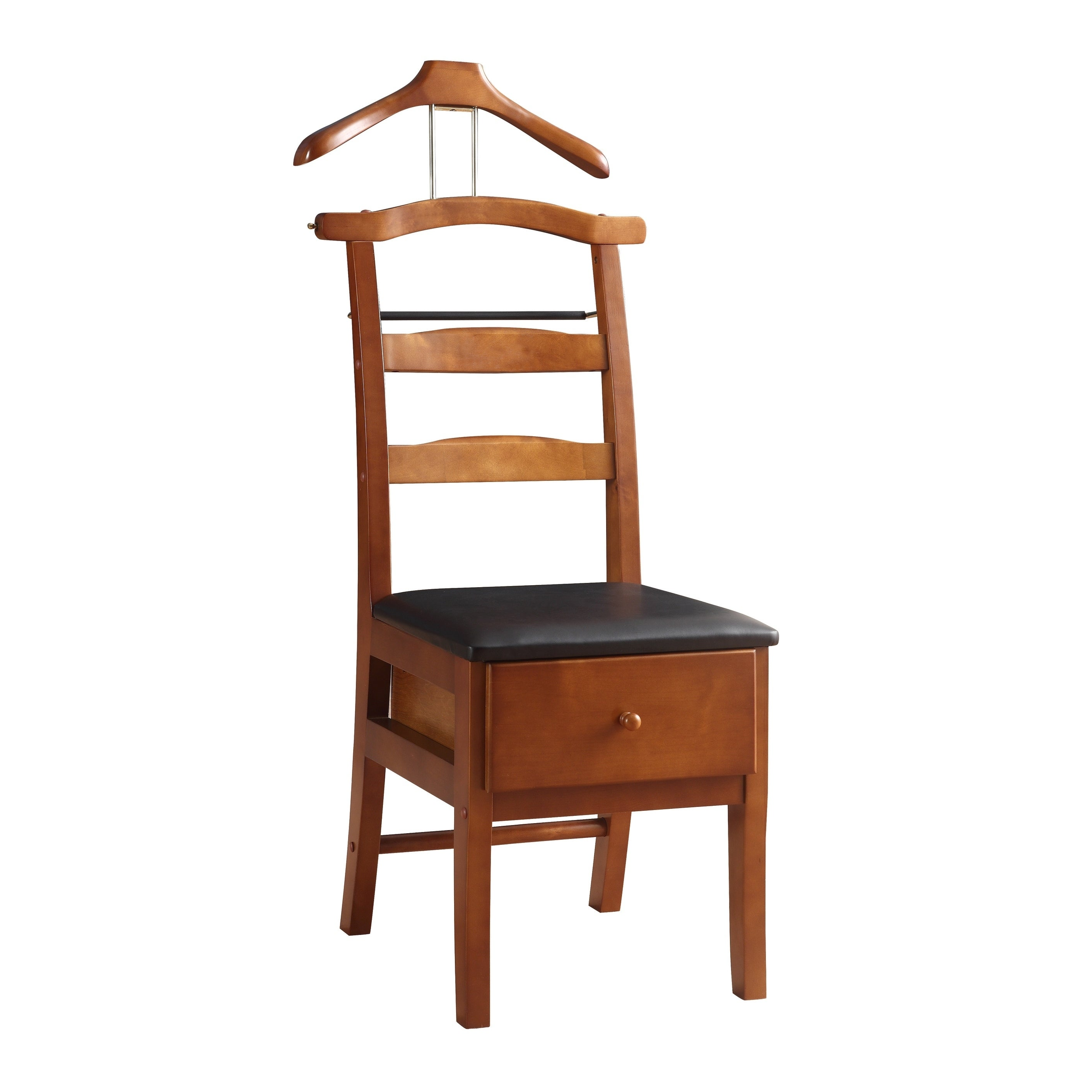 Shop Executive Light Walnut Valet Chair   Free Shipping Today    Overstock.com   5084814