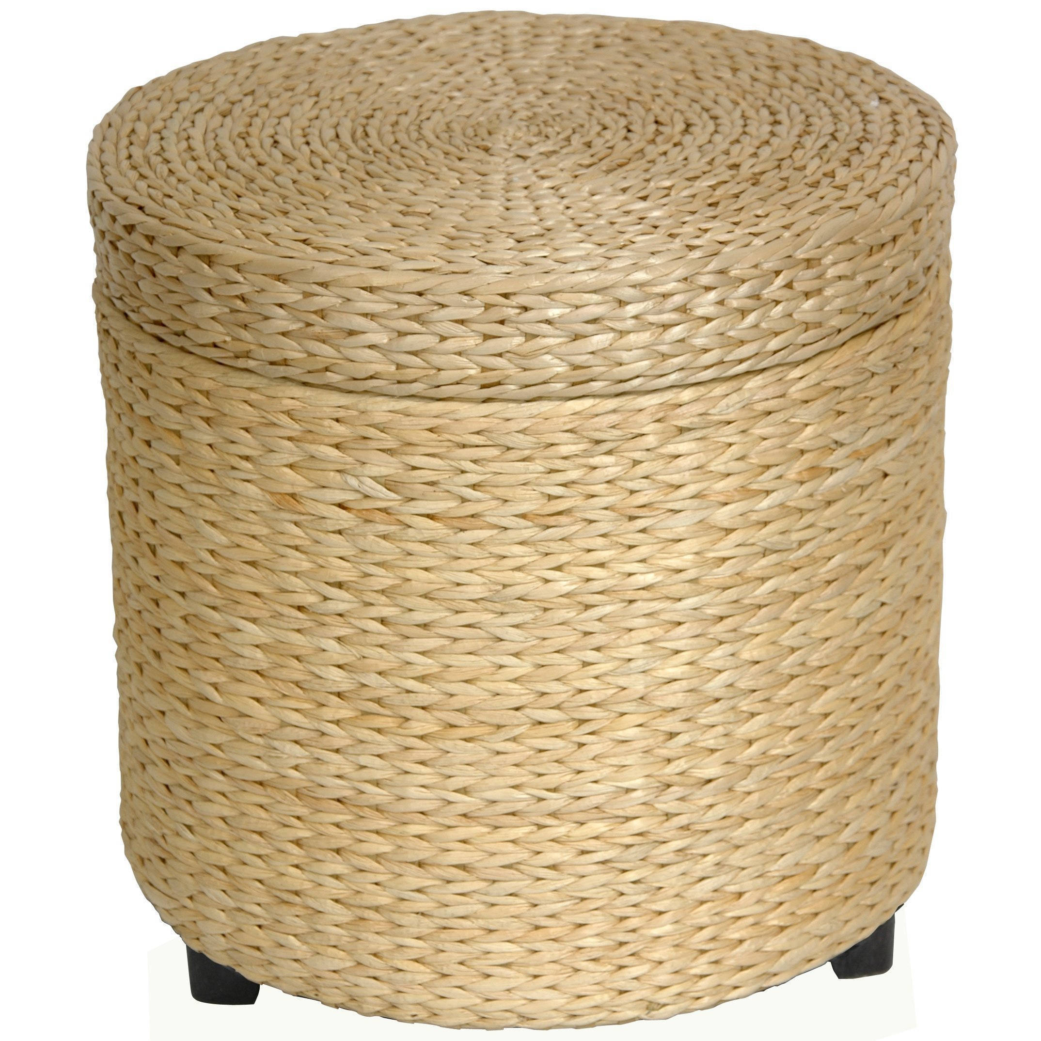 Shop Handmade Rush Grass Storage Footstool (China)   Free Shipping Today    Overstock.com   5085641