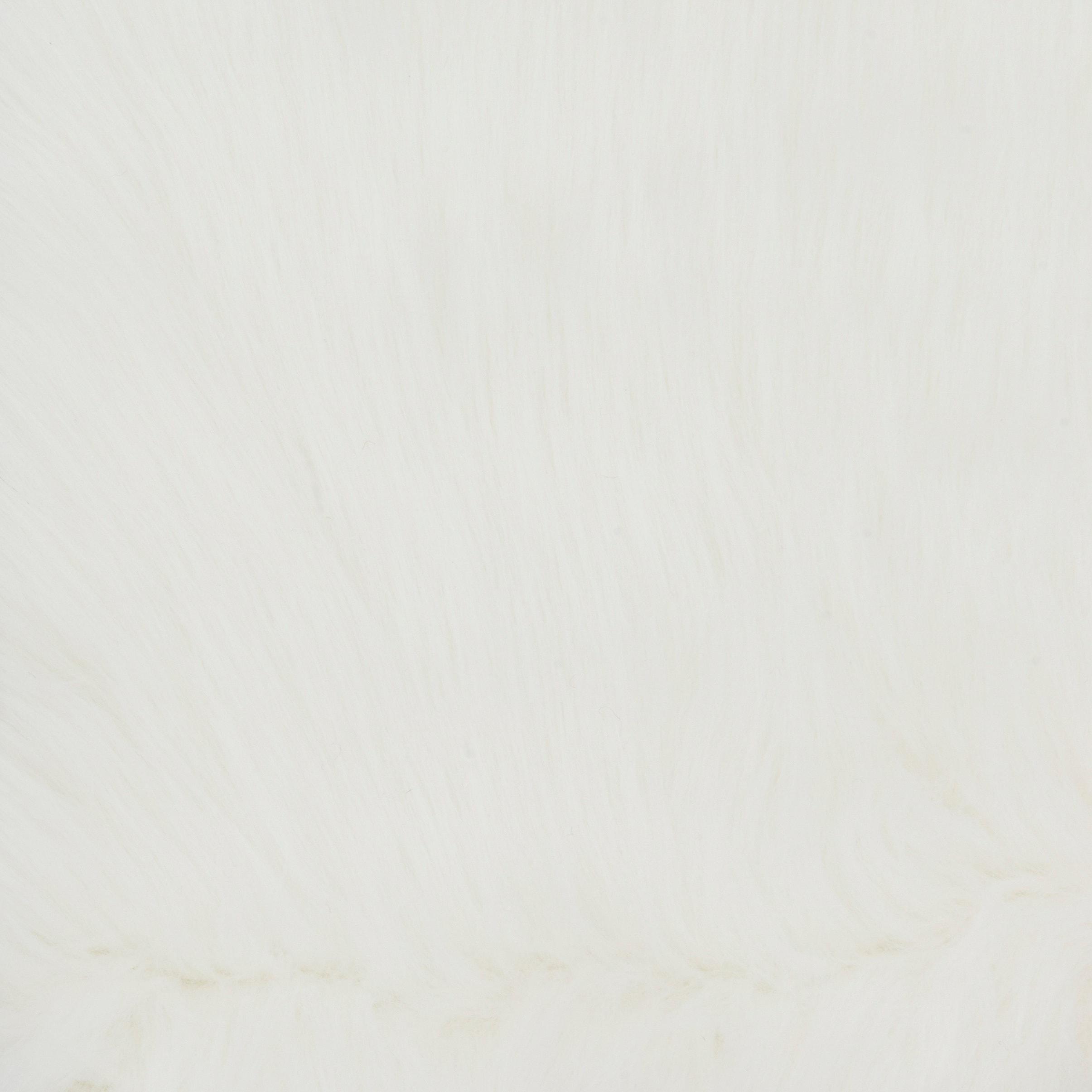 Faux Sheepskin Ivory White Shag Area Rug 5 x 76 Free Shipping