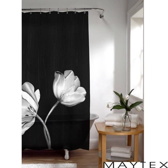Shop Maytex Tulip Photoreal Vinyl Shower Curtain
