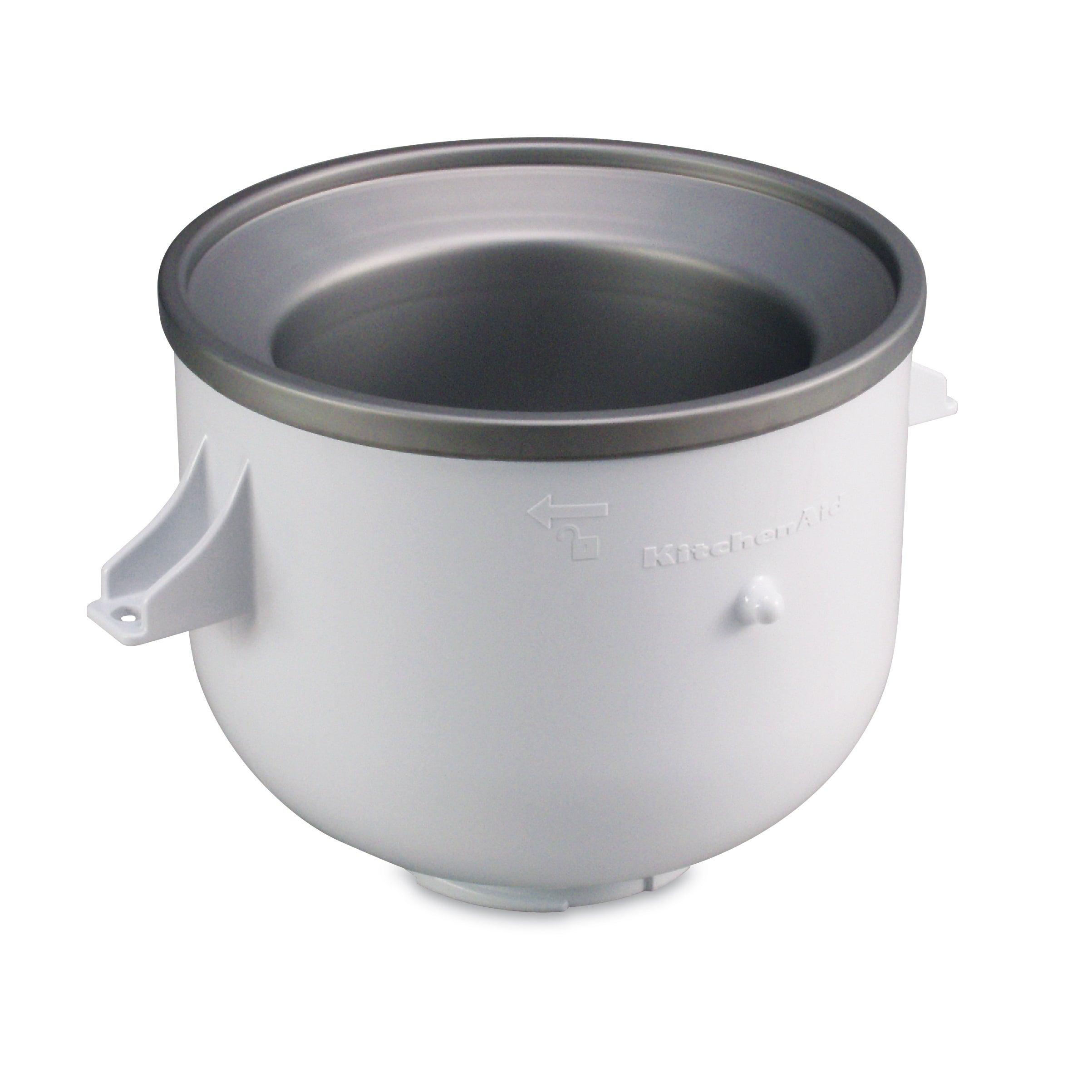 Shop KitchenAid KICA0WH White Ice Cream Bowl Attachment - Free ... on oneida ice cream bowl, kitchenaid blender, disney ice cream bowl, kitchenaid teapot, kitchenaid sausage stuffer, le creuset ice cream bowl,