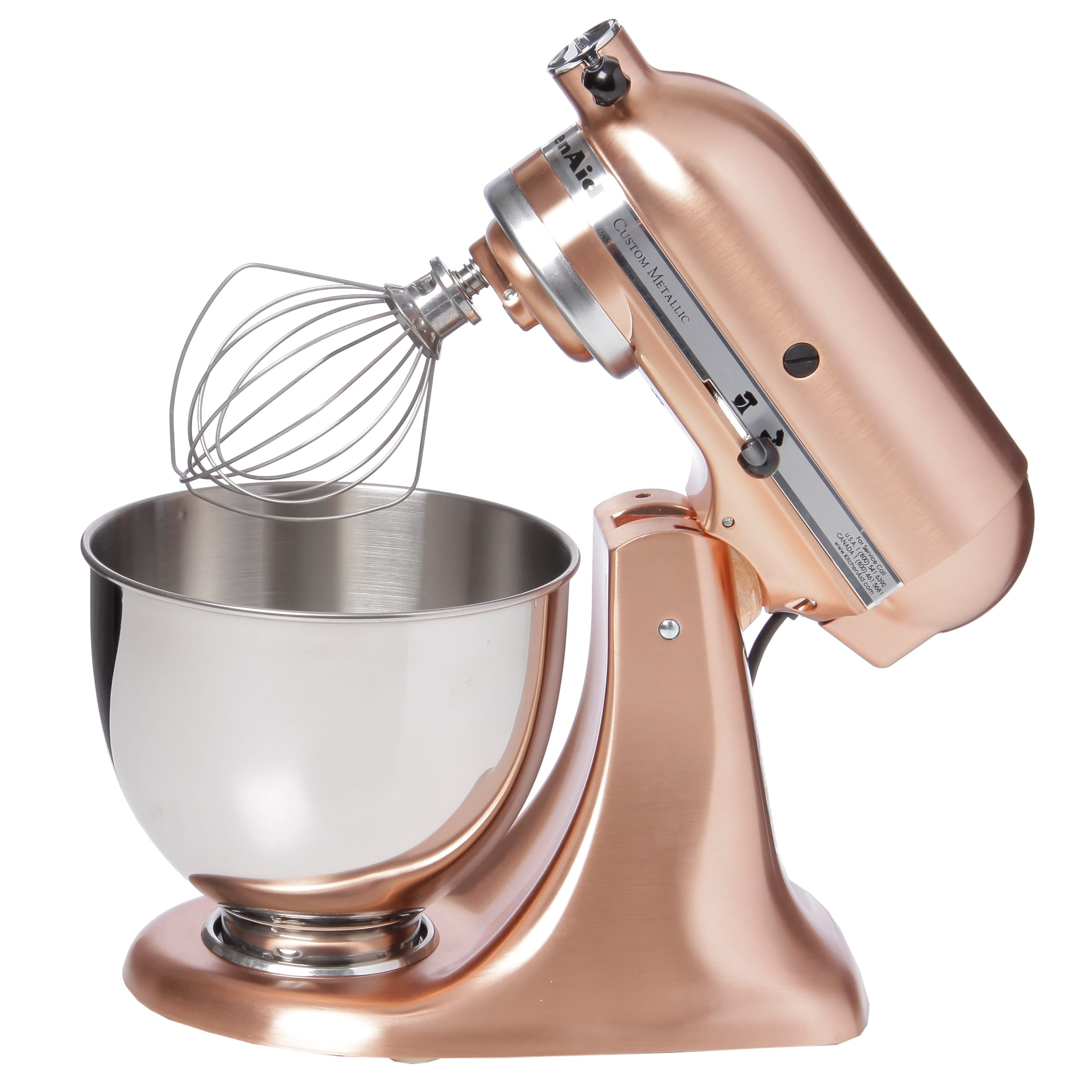 KitchenAid KSM152PSCP Satin Copper 5-quart Custom Metallic Tilt-Head ...