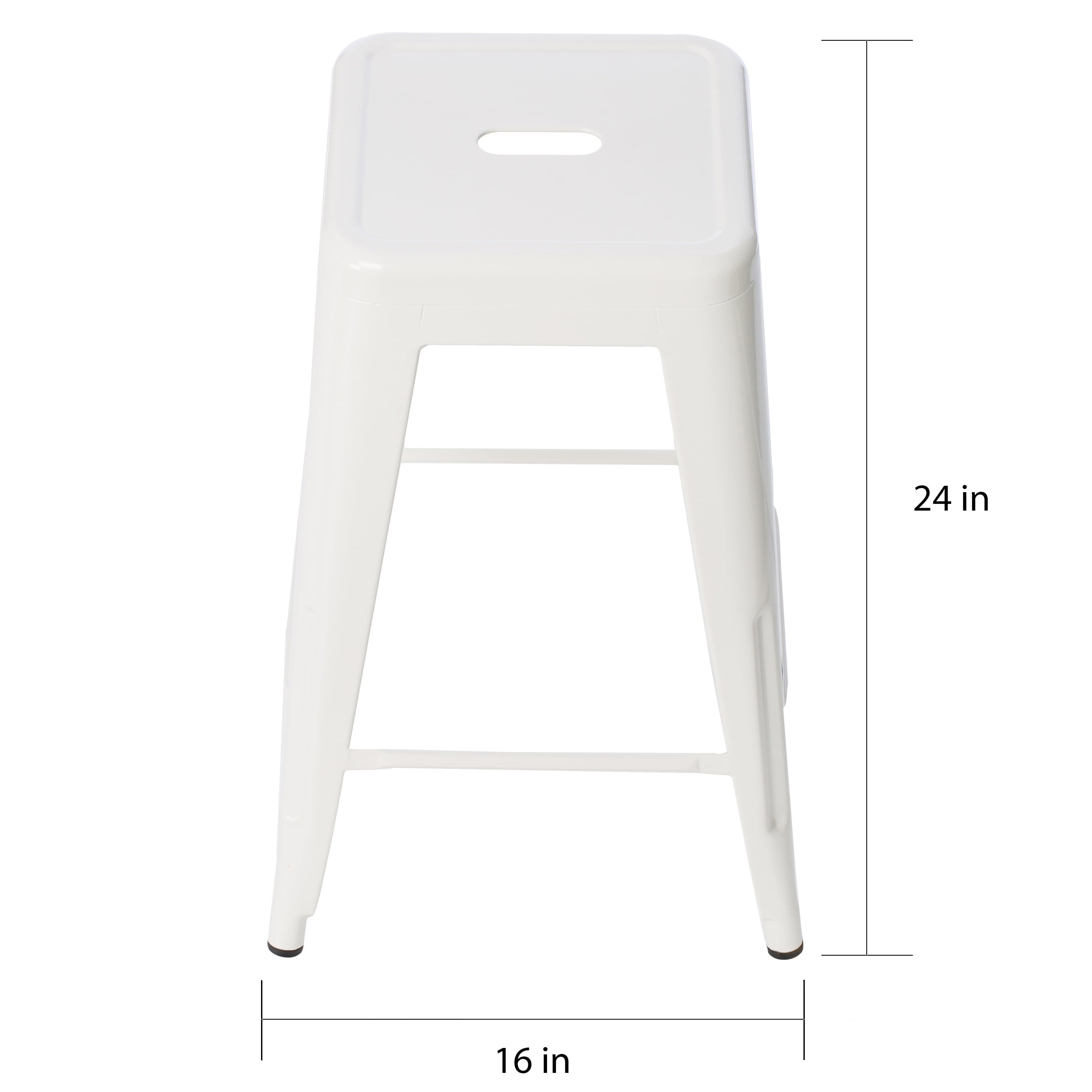 Tabouret 24 Inch White Metal Counter Stools Set Of 2 Free Shipping Today 12950054