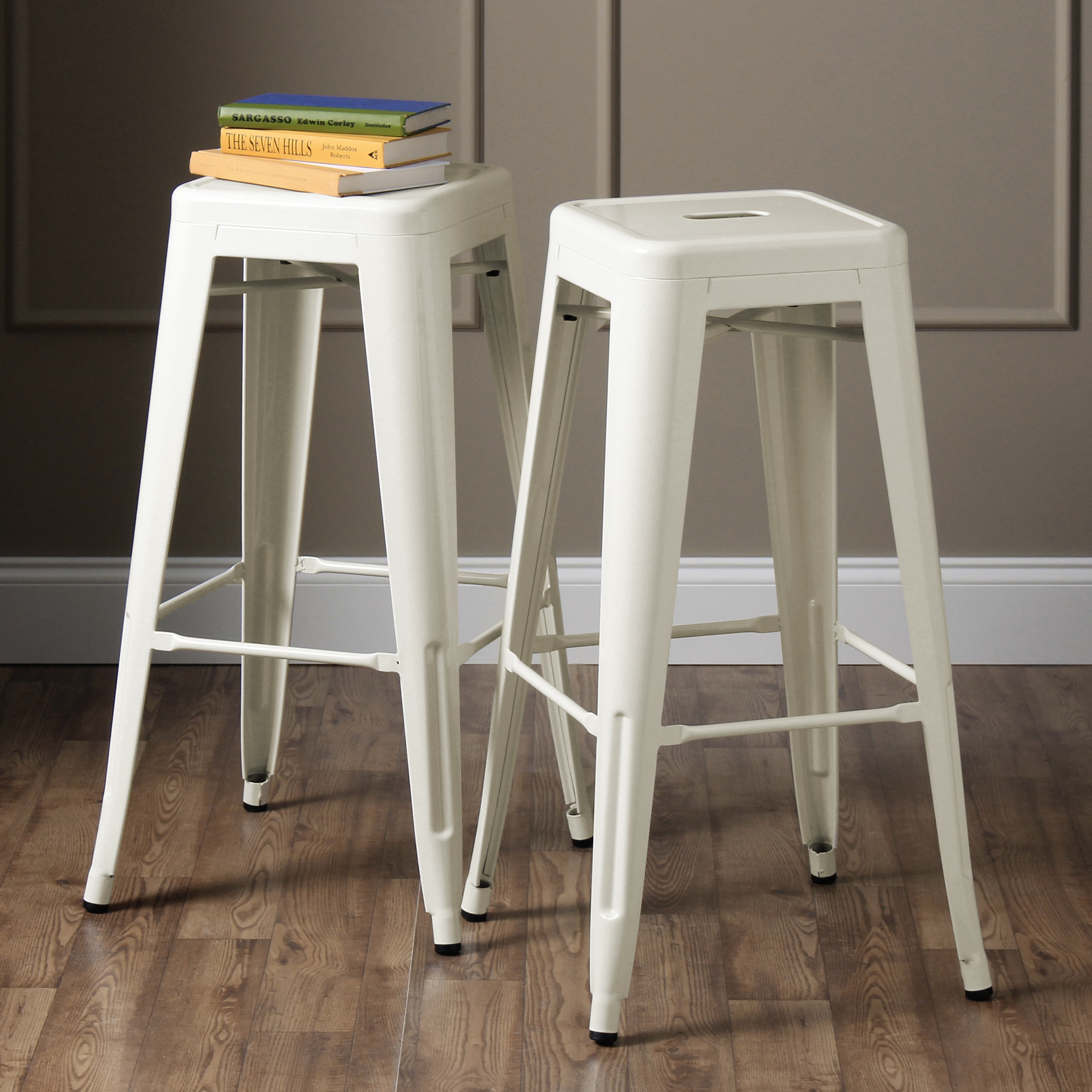 Tabouret 30-inch White Bar Stools (Set of 2) - Free Shipping Today -  Overstock.com - 12950056