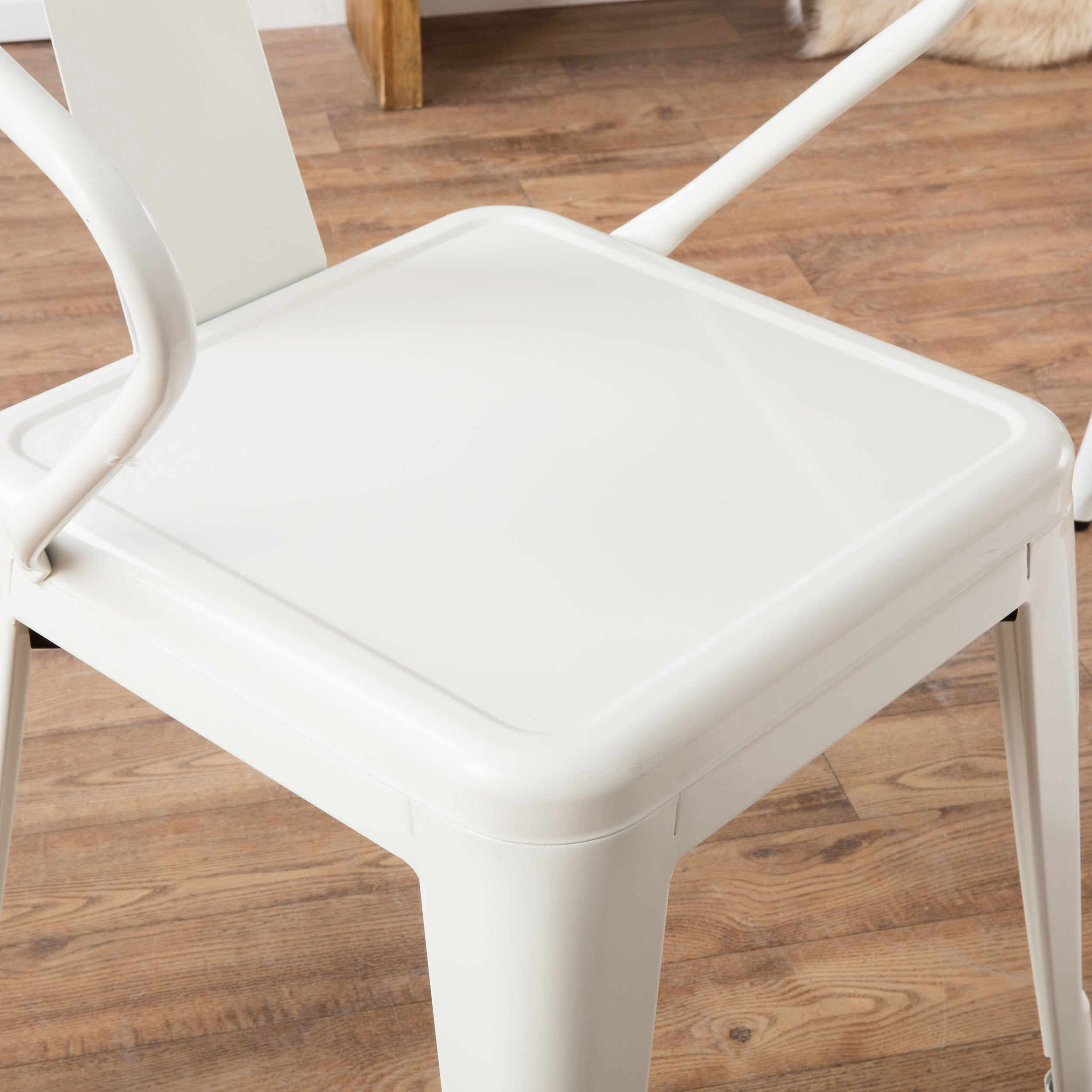 Perfect White Tabouret Stacking Chairs (Set Of 4)   Free Shipping Today    Overstock.com   12950047
