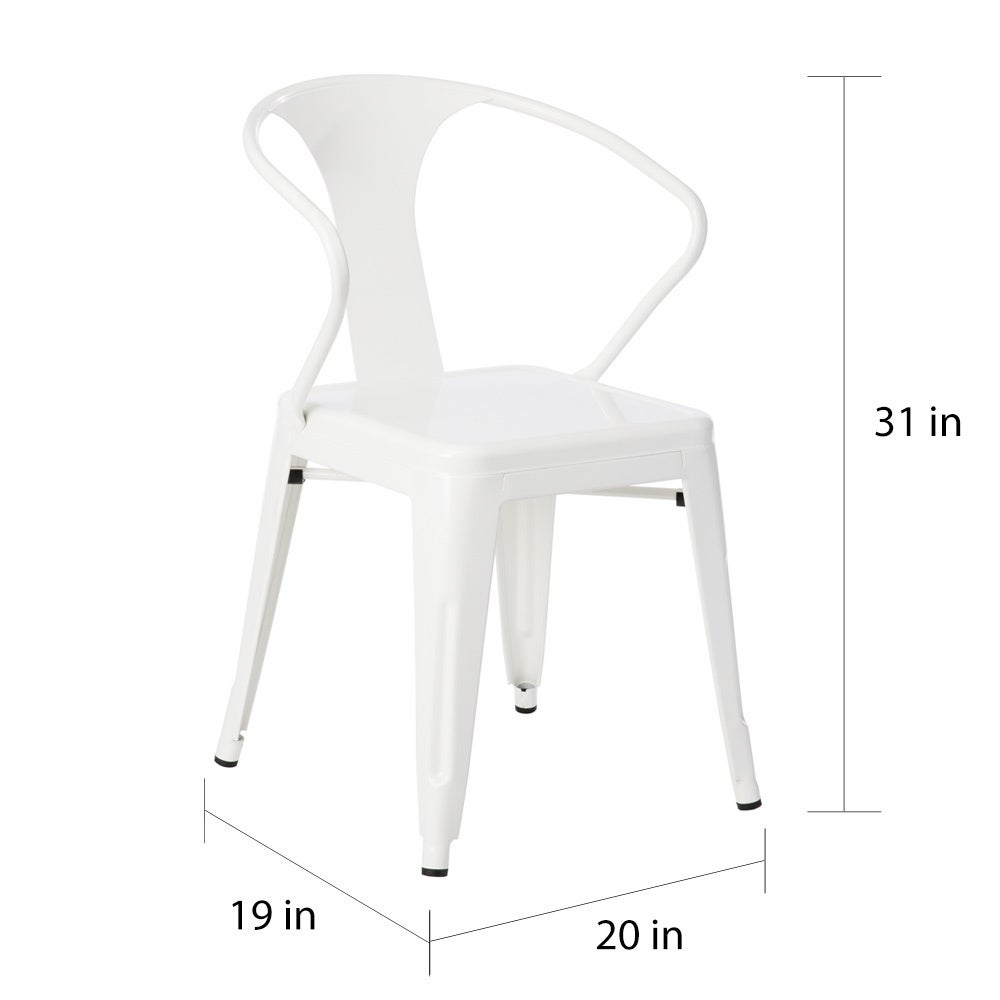 White Tabouret Stacking Chairs (Set Of 4)   Free Shipping Today    Overstock.com   12950047
