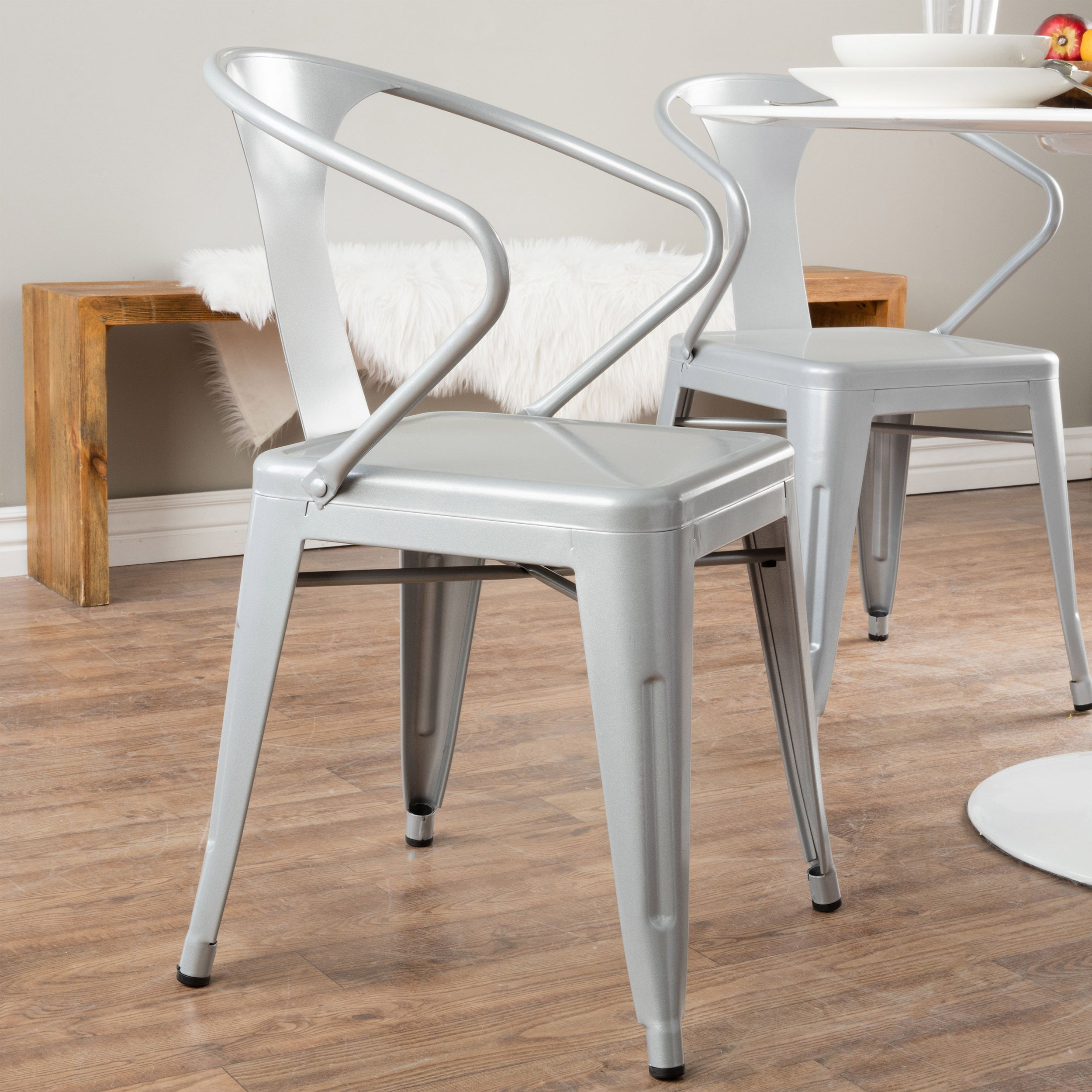 Awesome Carbon Loft Silver Tabouret Stacking Chairs (Set Of 4)   Free Shipping  Today   Overstock.com   12950045