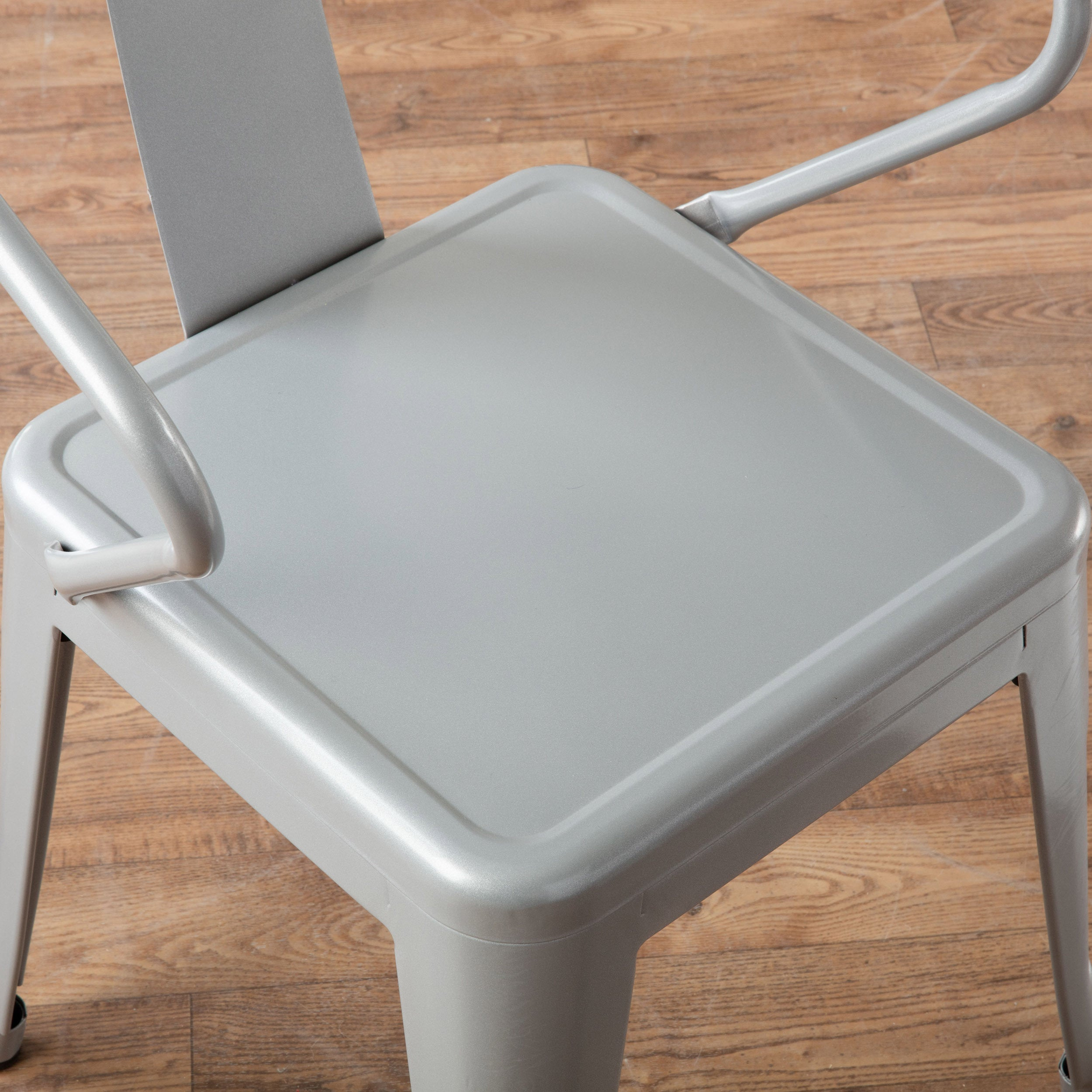 Nice Carbon Loft Silver Tabouret Stacking Chairs (Set Of 4)   Free Shipping  Today   Overstock.com   12950045