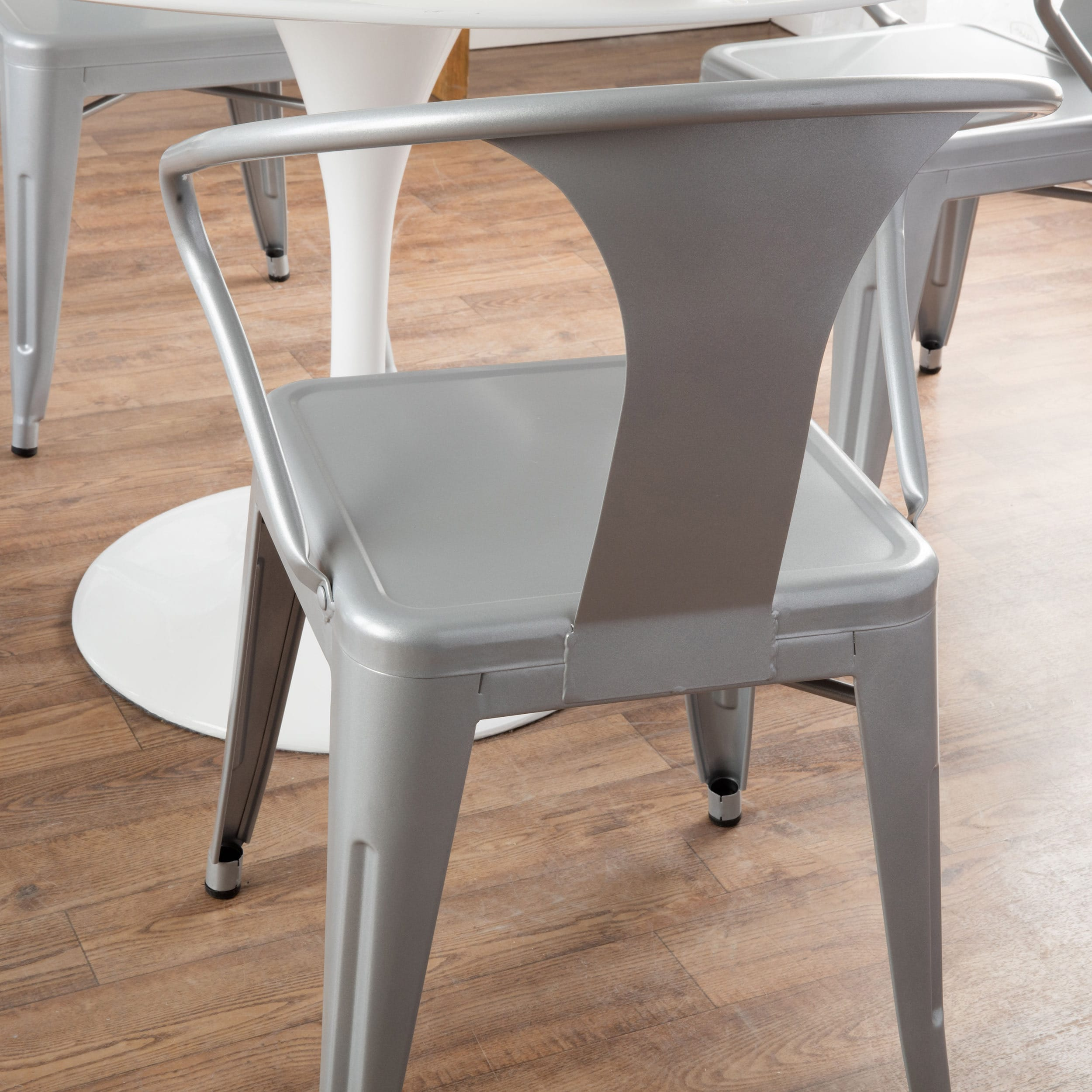 Shop Tabouret Silver Tabouret Stacking Chairs (Set Of 4)   Free Shipping  Today   Overstock.com   5095638
