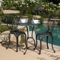 Charleston Aluminum Copper Bistro Set by Christopher Knight Home