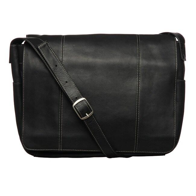 Royce Vaquetta Leather 13 Inch Laptop Messenger Bag