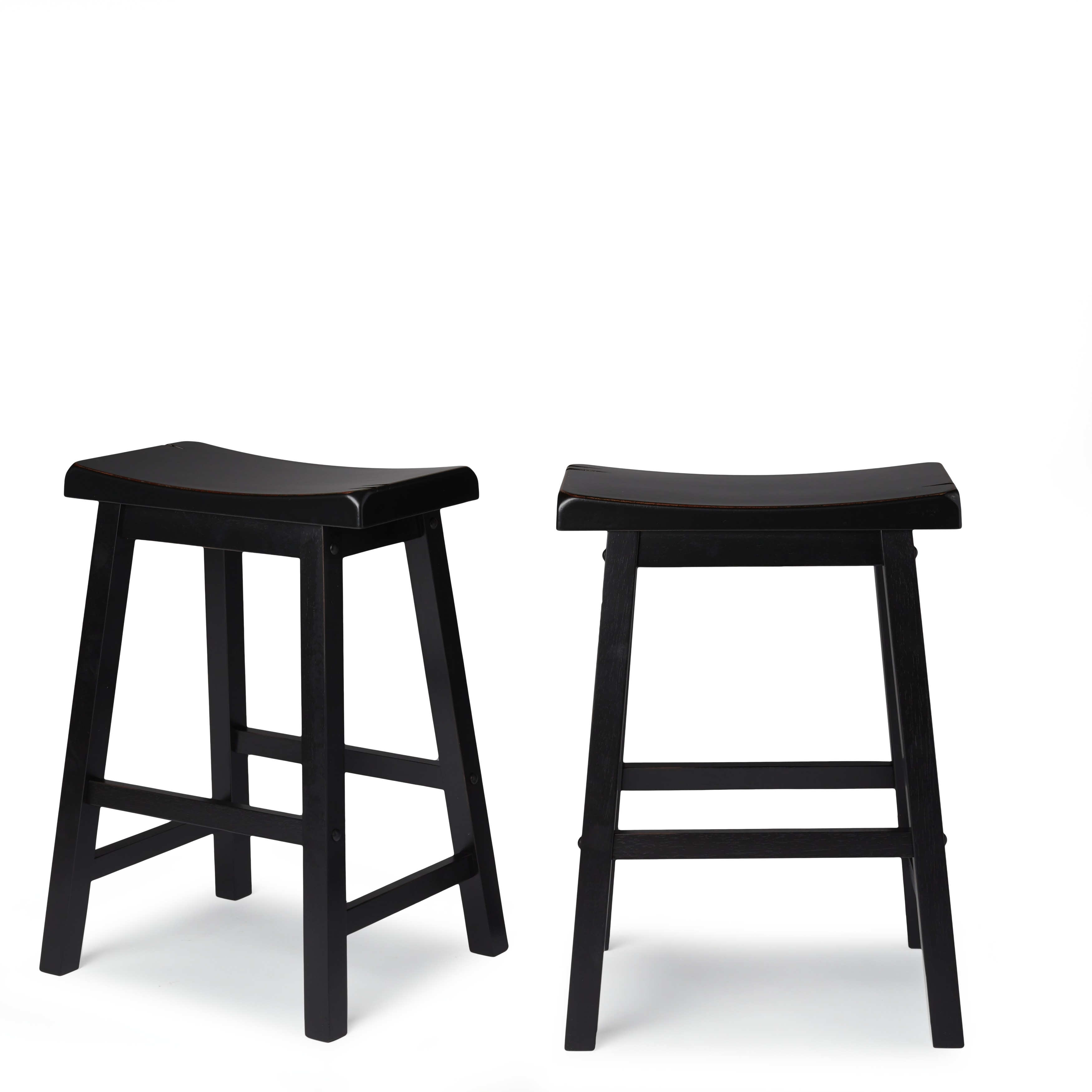 Salvador Saddle Back 24 Inch Counter Height Backless Stool Set Of 2 By Inspire Q Bold Free Shipping Today 5108781