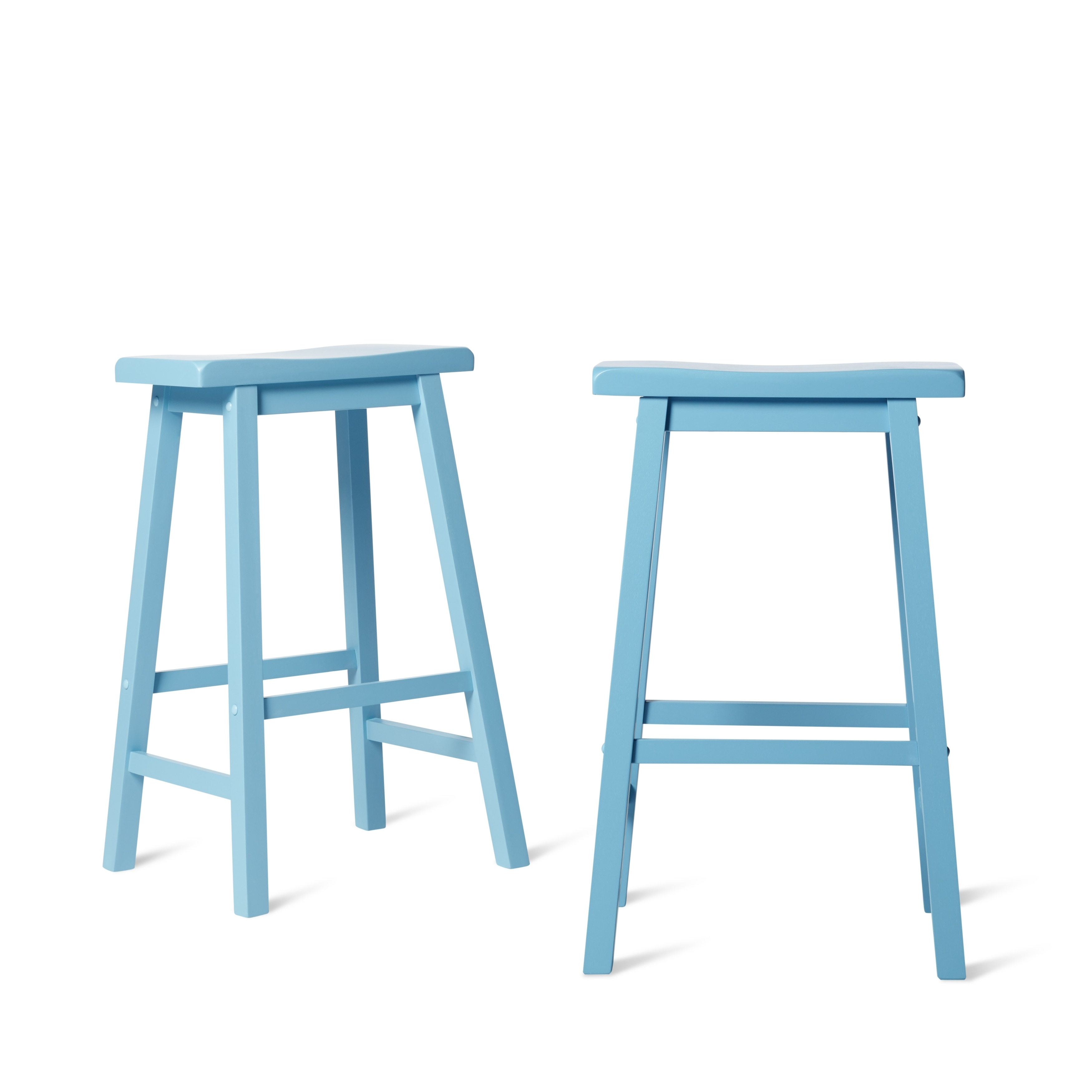 Shop Salvador Saddle 29-inch Counter Height Backless Stools (Set of ...