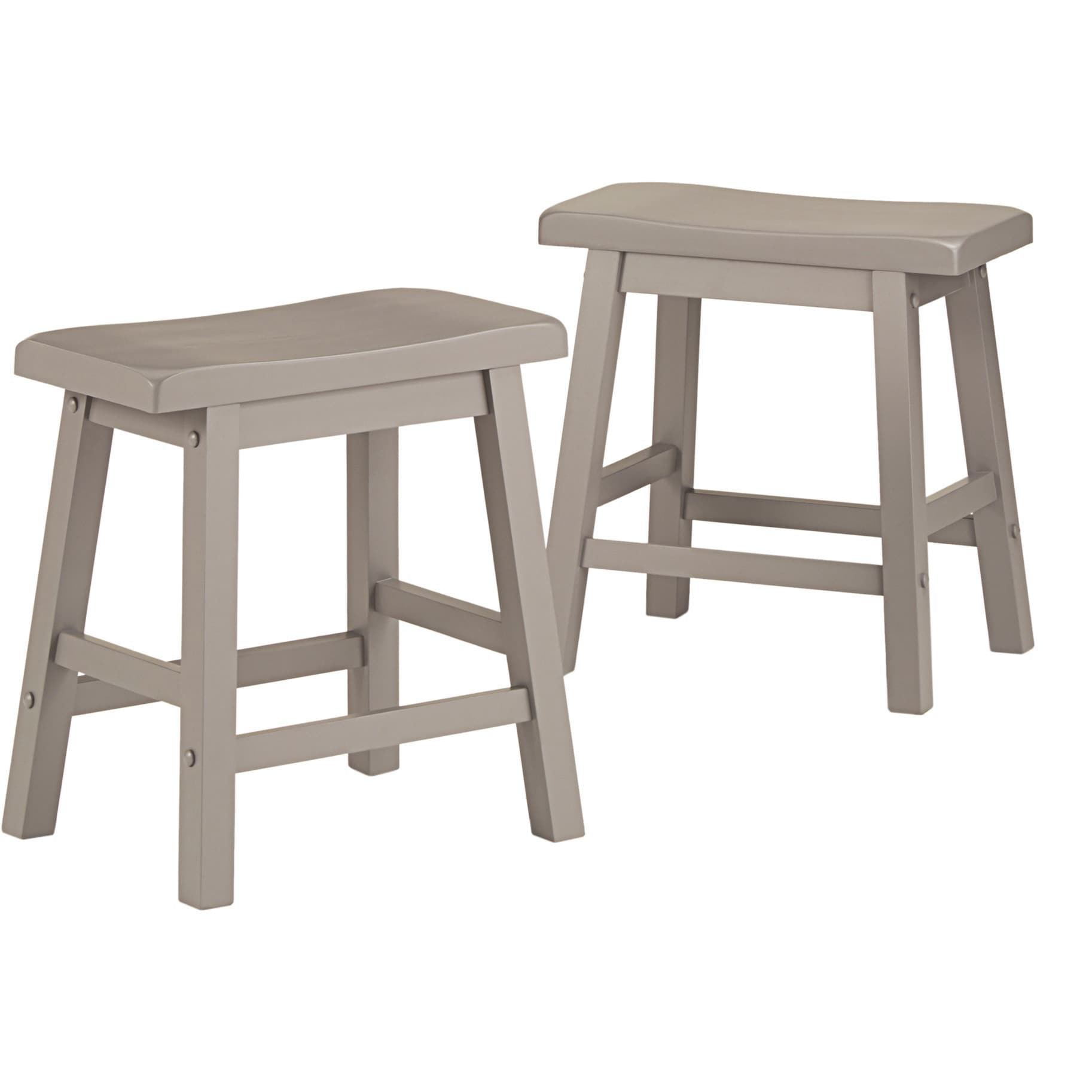 Salvador Saddle Back 18-inch Backless Stool (Set of 2) by iNSPIRE Q Bold -  Free Shipping Today - Overstock.com - 12960332