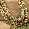 Handmade Nylon Cord 'Autumn Garland' Unakite Strand Necklace (India)