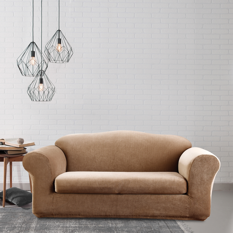 Shop Sure Fit Stretch Stripe 2 Piece Sofa Slipcover On Sale Free