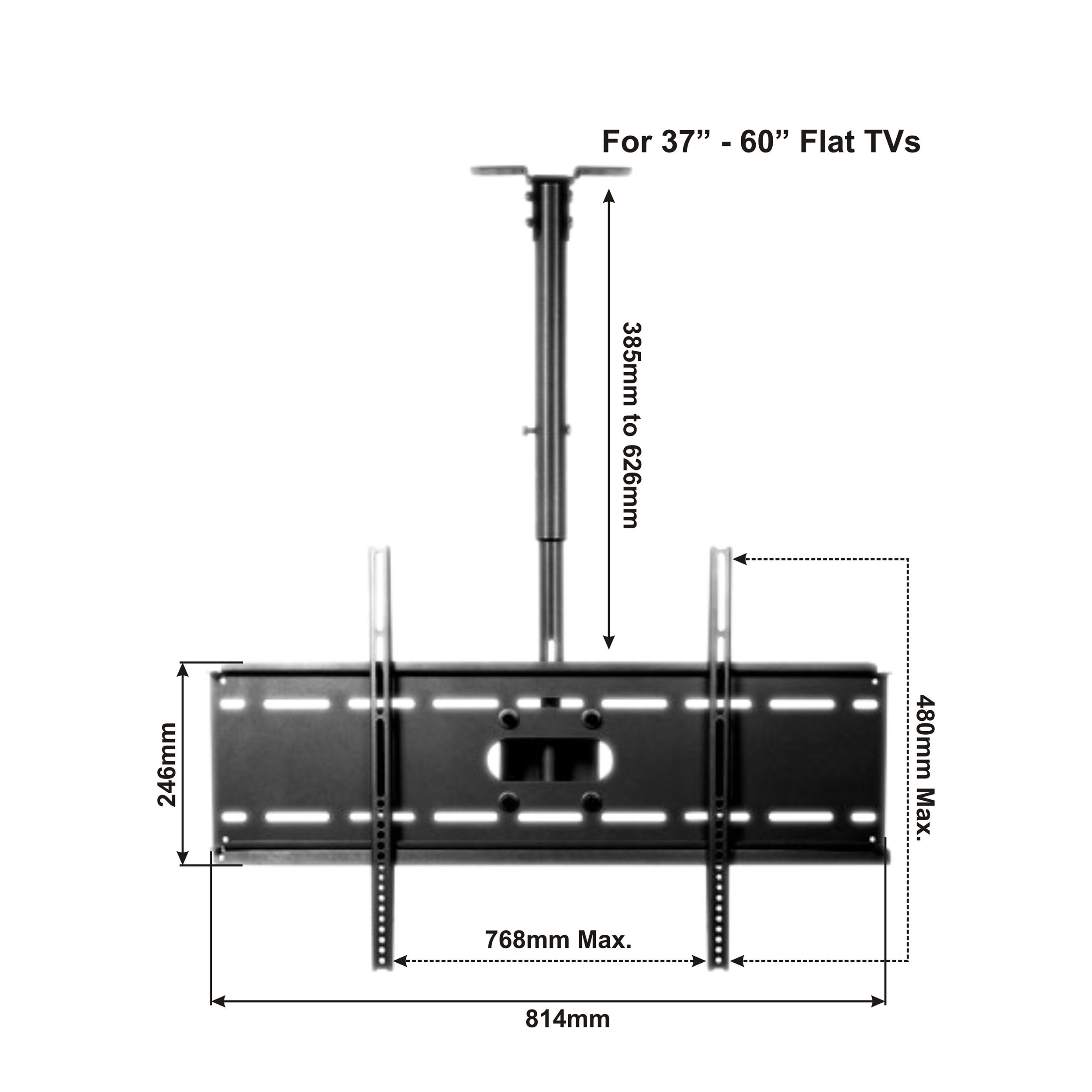 Shop Arrowmounts Tilt Ceiling Mount For 37 60 Flat Panel Tv Am Engineering Schematics Plasma Screen C6010b Free Shipping Today 5127409