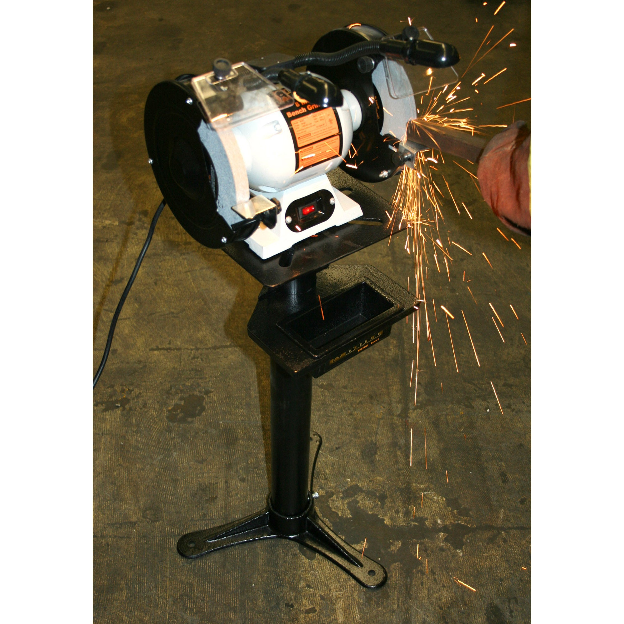Shop Black Bull 8 Inch Bench Grinder With Lights Free Shipping Wiring Diagram Today 5129335