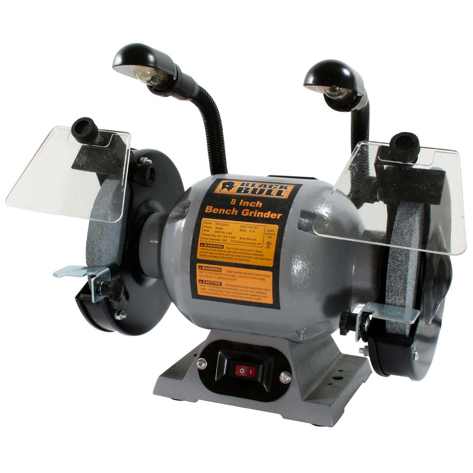 Shop Black Bull 8 Inch Bench Grinder With Lights Free Shipping