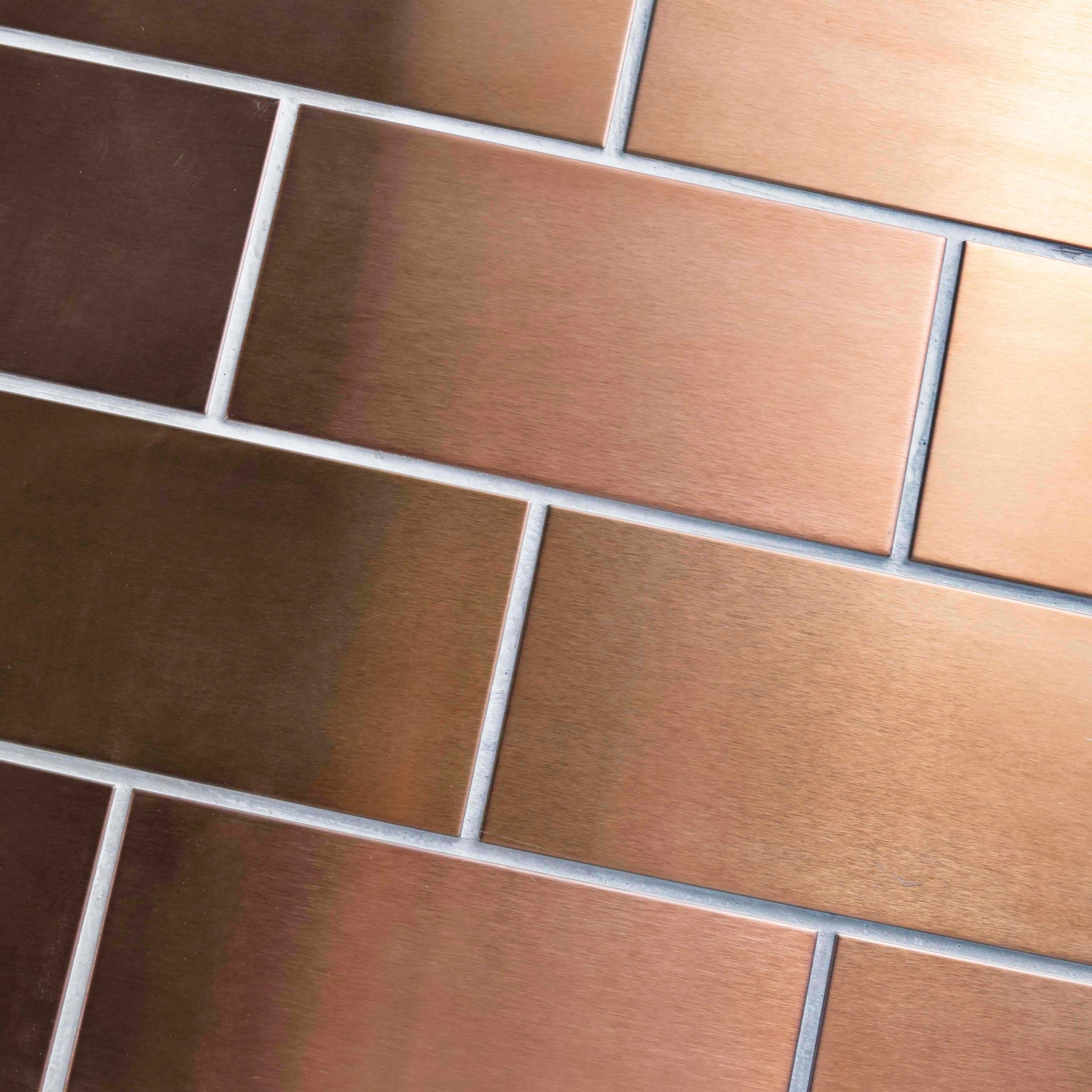 Somertile 3x6 inch alloy copper stainless steel over porcelain somertile 3x6 inch alloy copper stainless steel over porcelain mosaic wall tile 64 tiles8 sqft free shipping today overstock 12988839 dailygadgetfo Choice Image