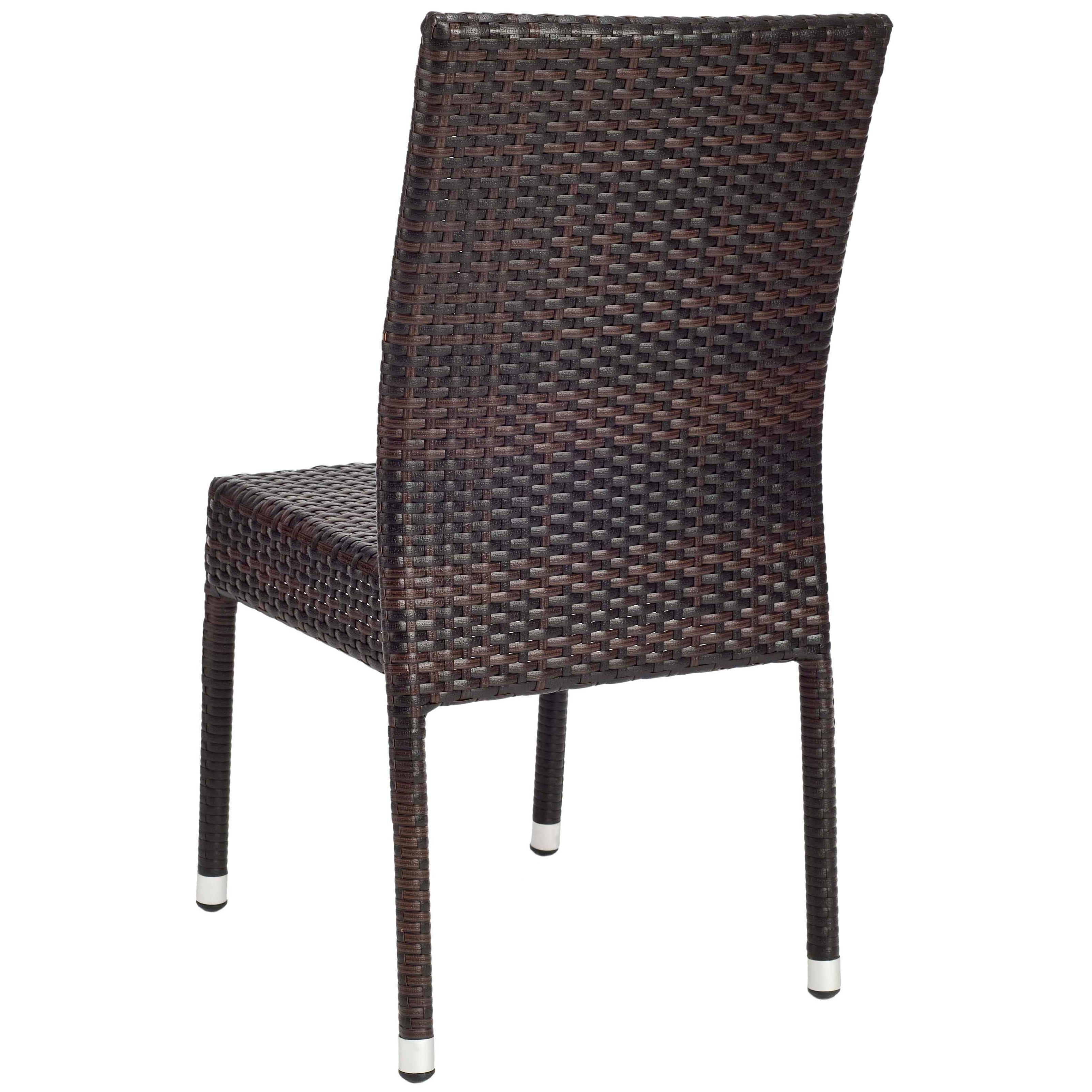 Safavieh Hamptons Bay Wicker Stackable Outdoor Chairs (Set of 2 ...