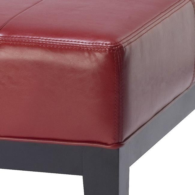 Shop Safavieh Fulton Storage Red Bicast Leather Square Ottoman   Free  Shipping Today   Overstock.com   5151902