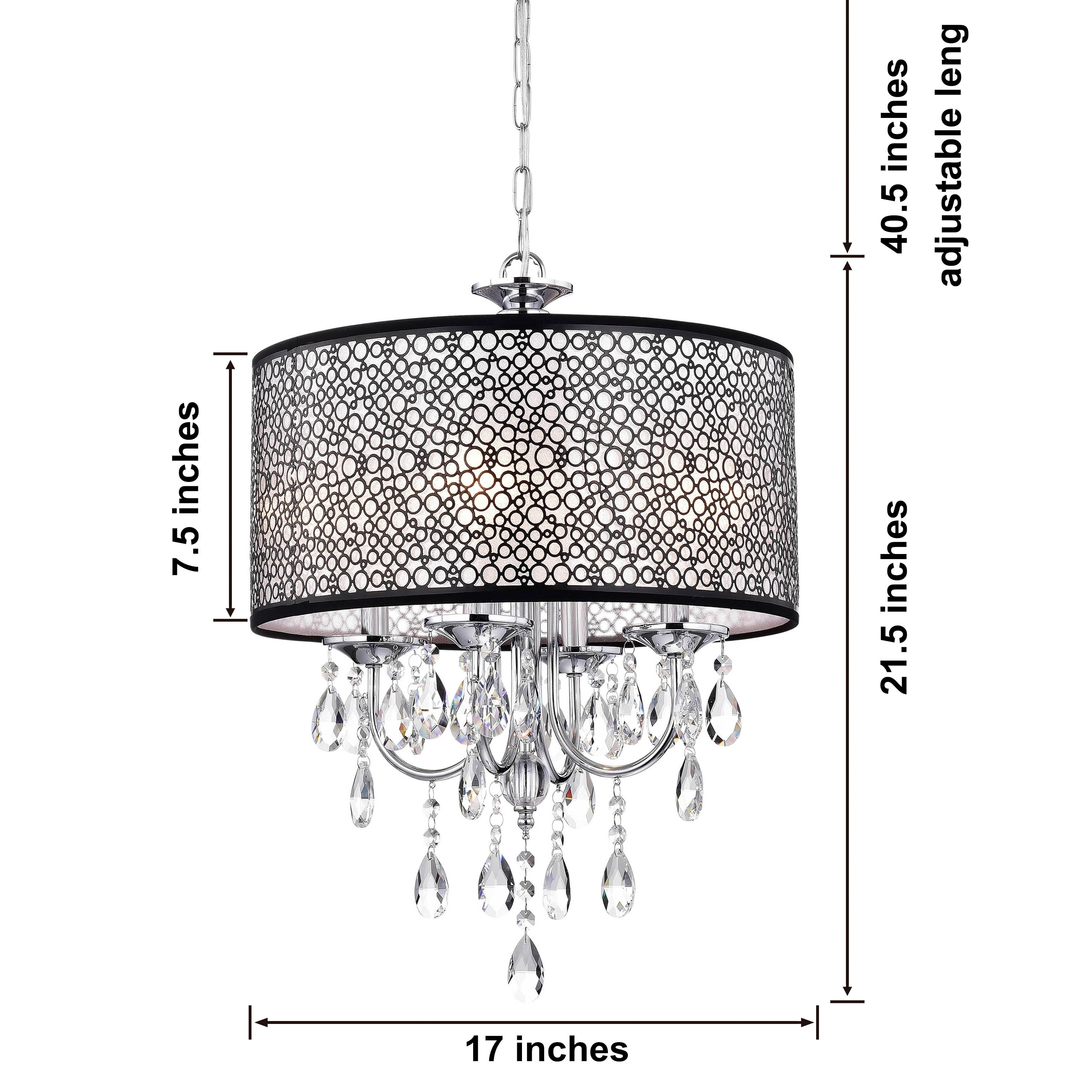 Indoor 4 Light Chrome Crystal Metal Bubble Shade Chandelier Free Today Com 5152199