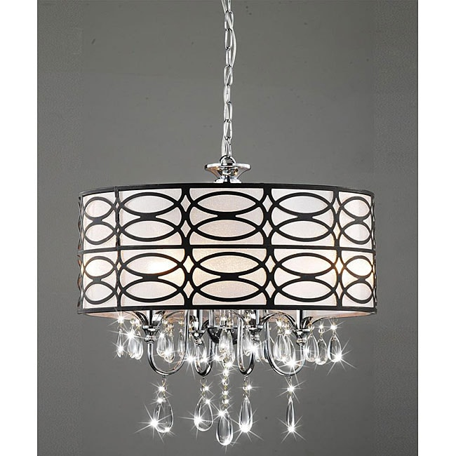 Shop indoor 4 light chrome crystal antique bronze shade chandelier shop indoor 4 light chrome crystal antique bronze shade chandelier free shipping today overstock 5152201 aloadofball Gallery