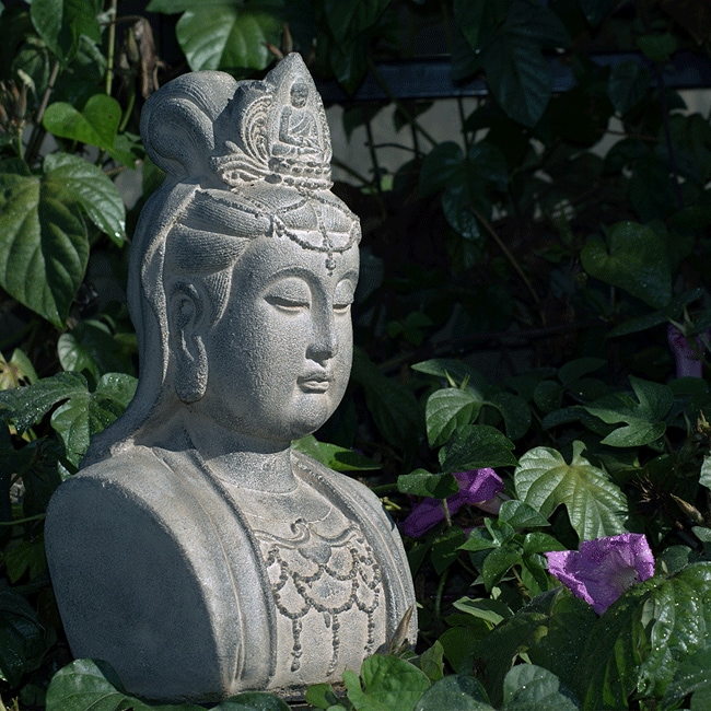 Handmade Stone Quan Yin Bust (Indonesia)   Free Shipping On Orders Over $45    Overstock   13000862