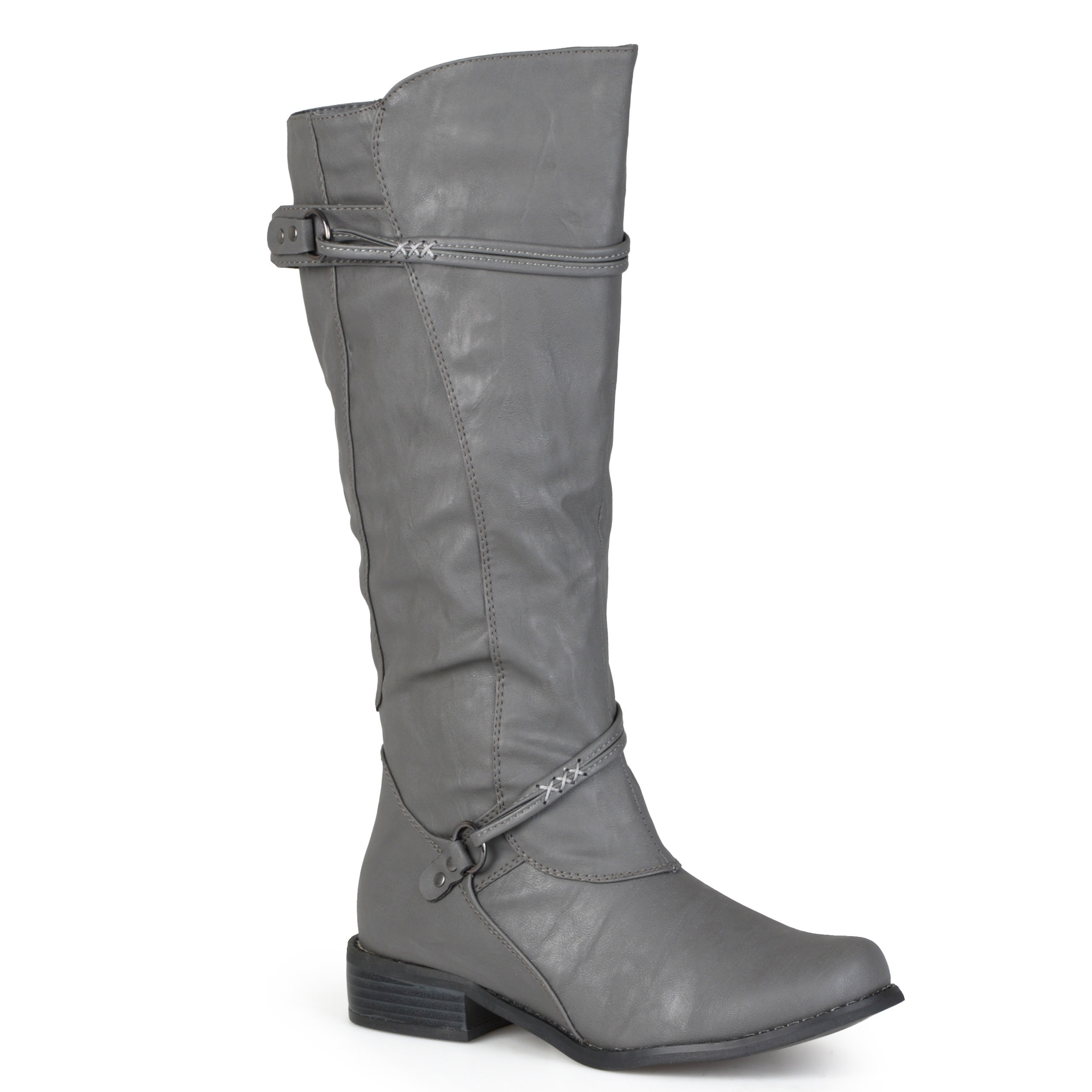 8f1c032e425 Shop Journee Collection Women s  Harley  Regular and Wide-calf Ankle-strap  Buckle Knee-high Riding Boot - On Sale - Free Shipping Today - Overstock -  ...